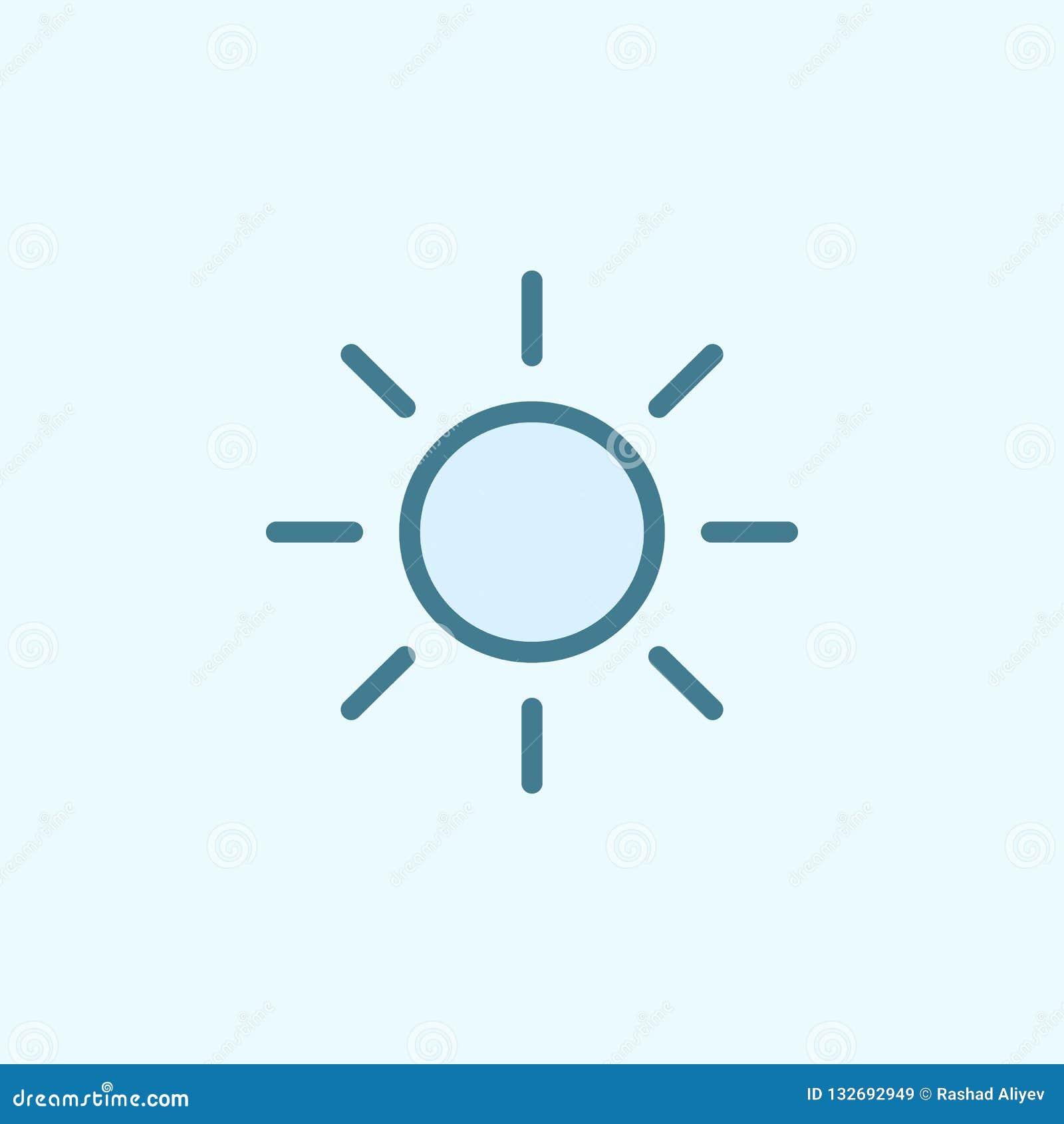 O ícone do esboço do campo do sol Elemento do ícone simples de 2 cores Linha fina ícone para o projeto do Web site e o desenvolvi