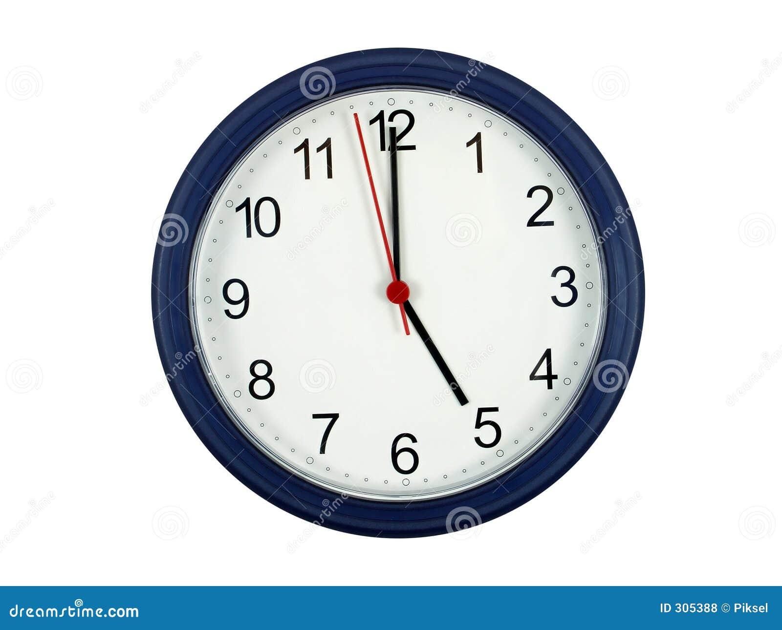 O 5 zegar pokazuje