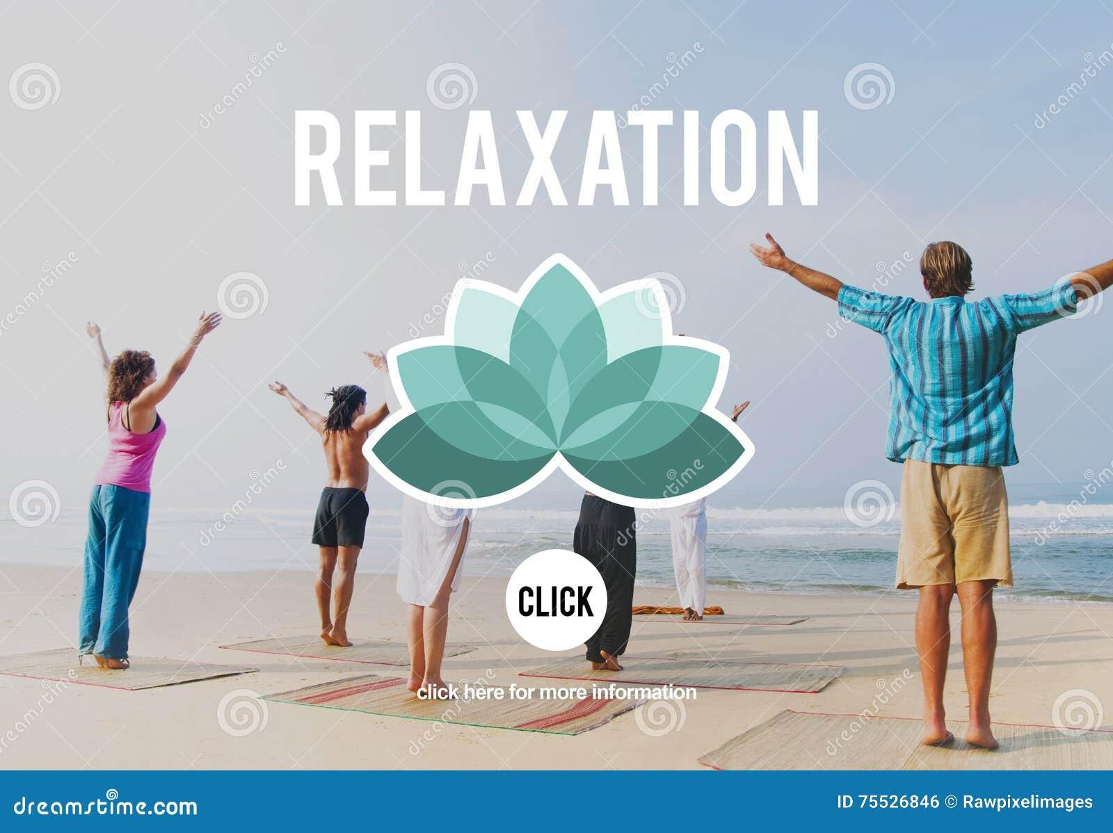 O abrandamento relaxa refrigera para fora o conceito de descanso da serenidade da paz