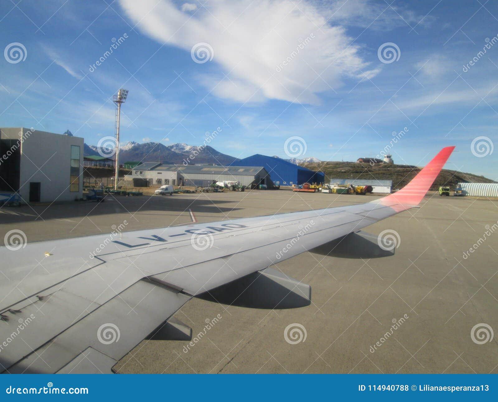 O aeroporto internacional Ushuaia de Malvinas Argentinas