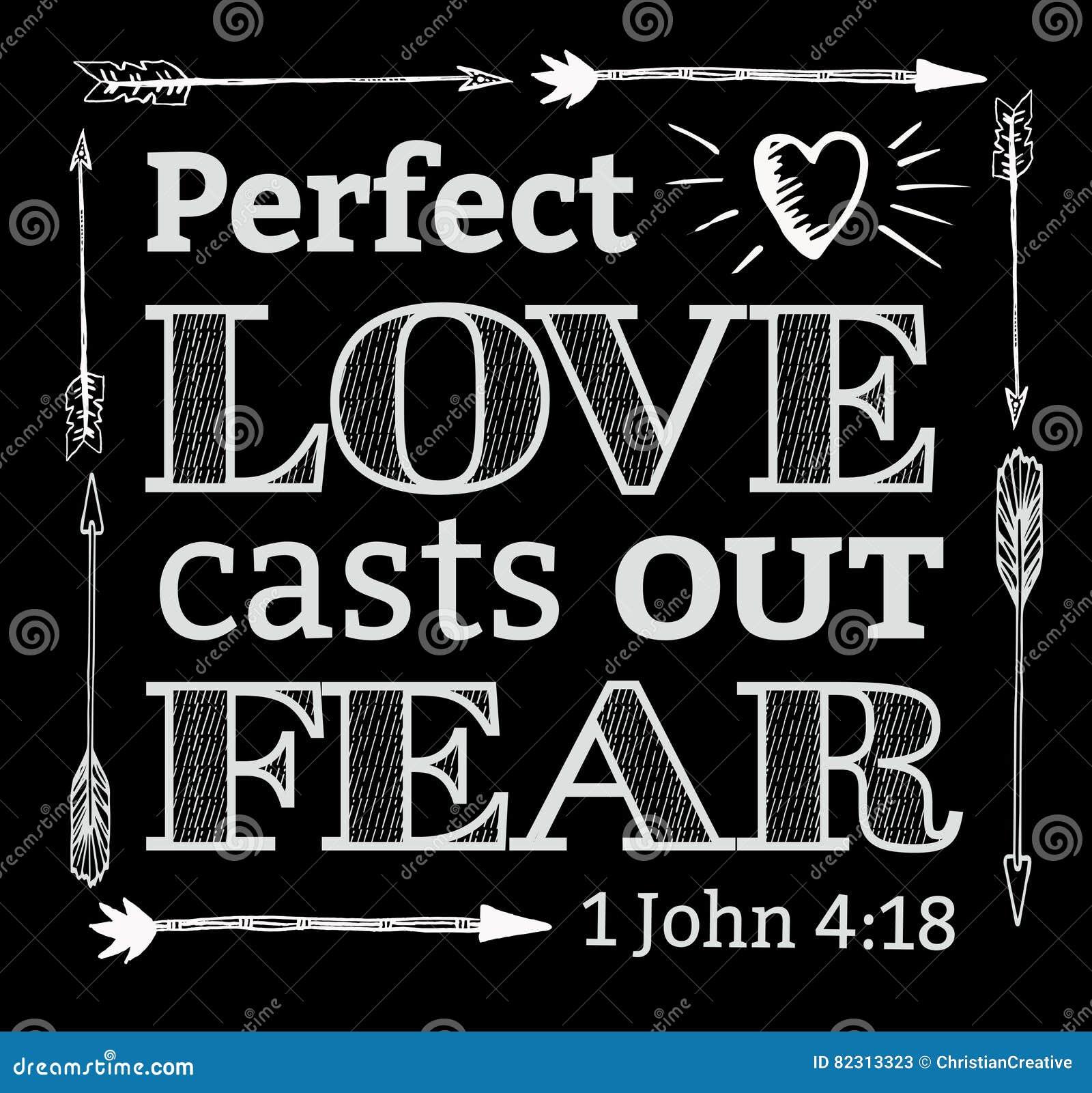 O amor perfeito molda para fora o medo