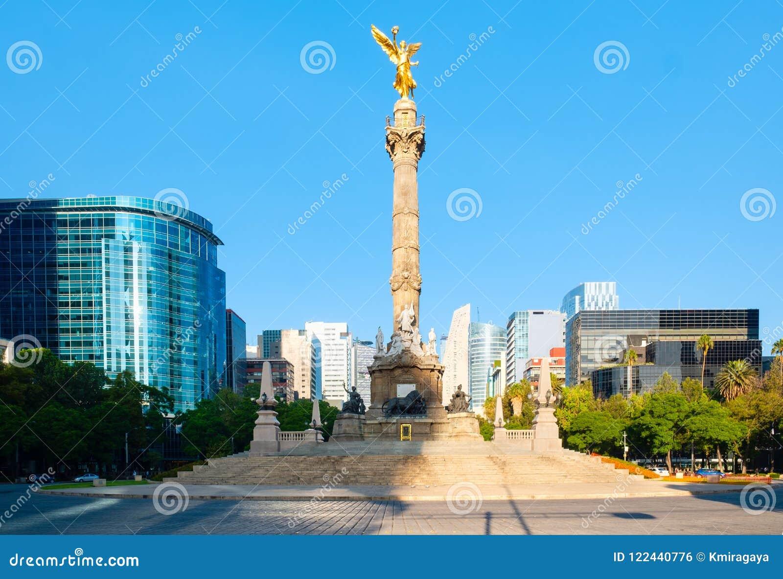 O anjo da independência em Paseo de la Reforma em Cidade do México