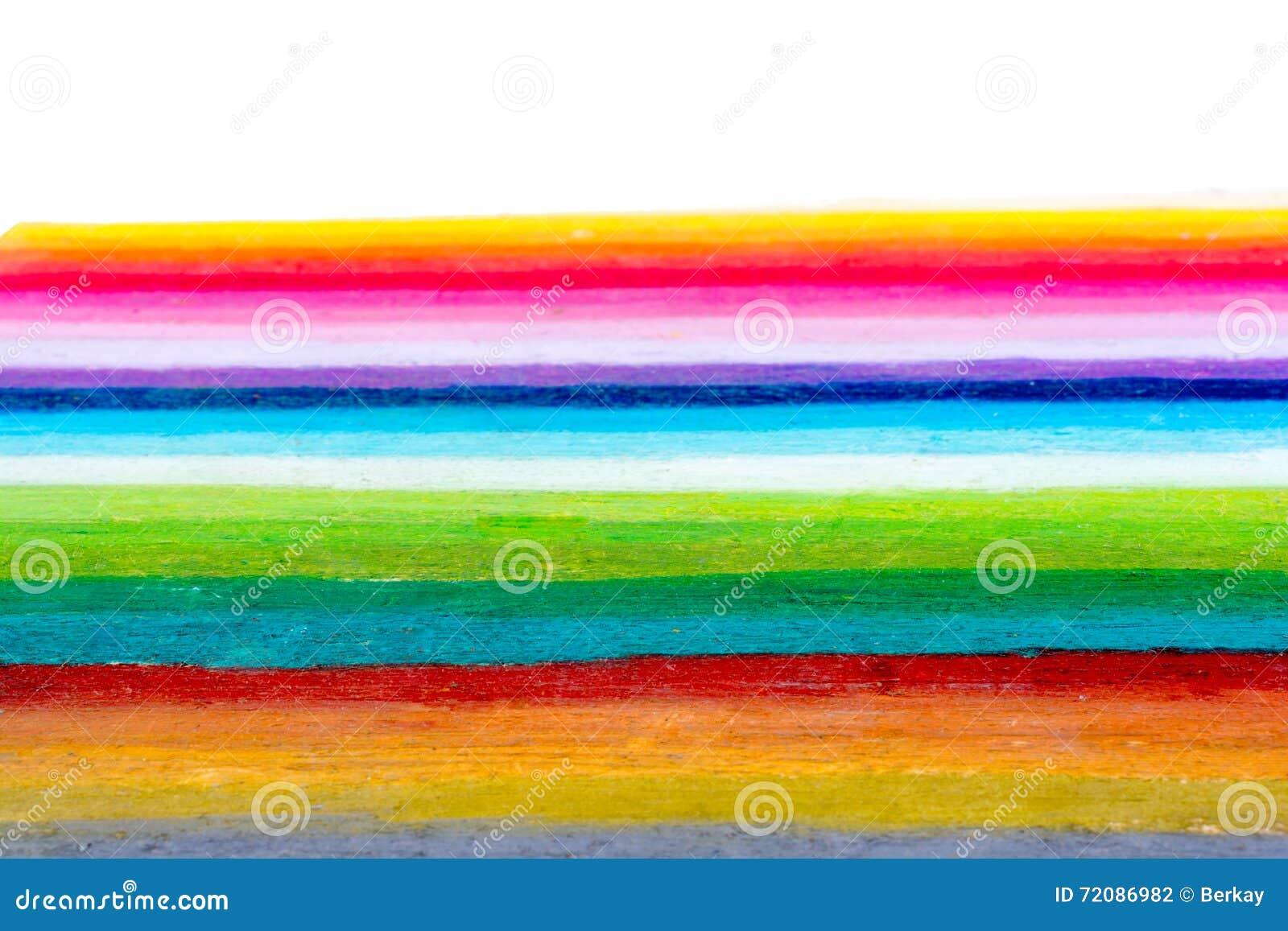 O arco-íris colore listras