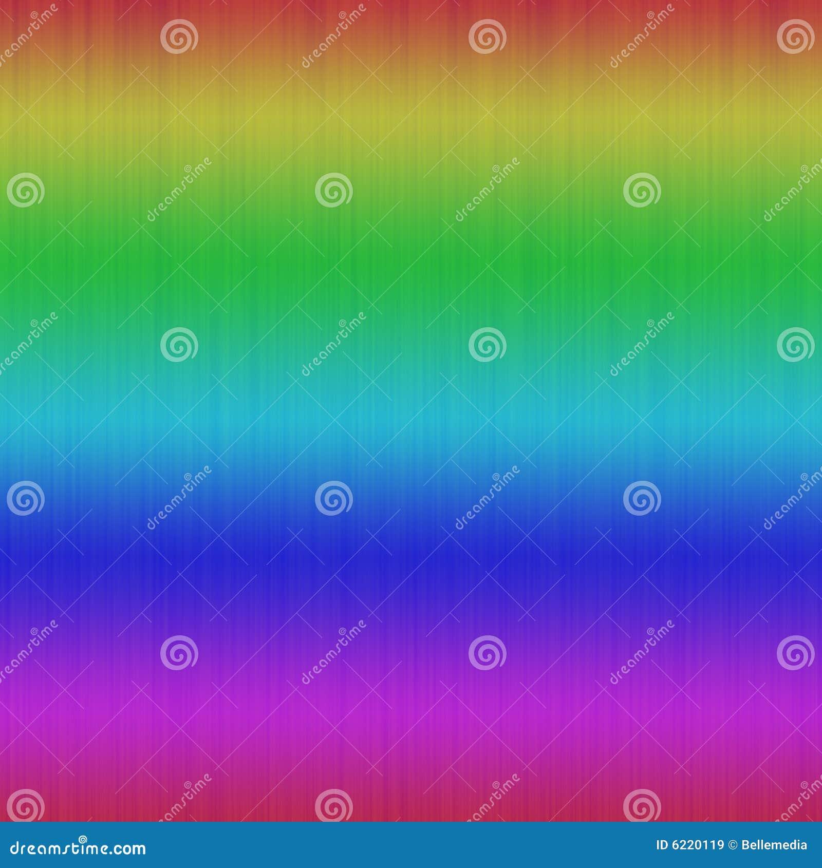 O arco-íris colore o fundo