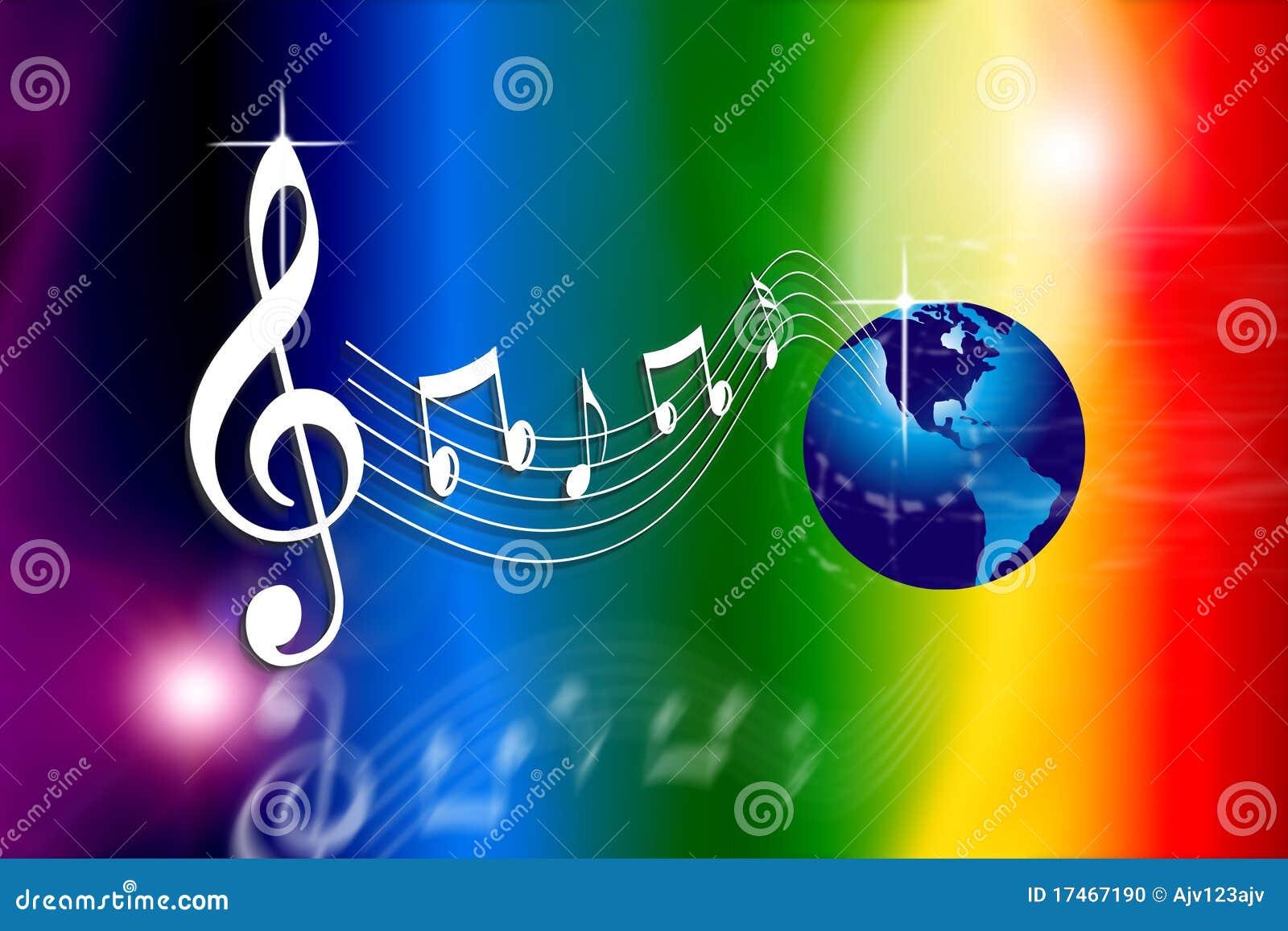 O arco-íris faz o mundo da música
