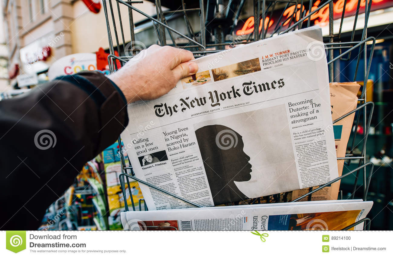 O artigo de New York Times e de Boko Haram na tampa