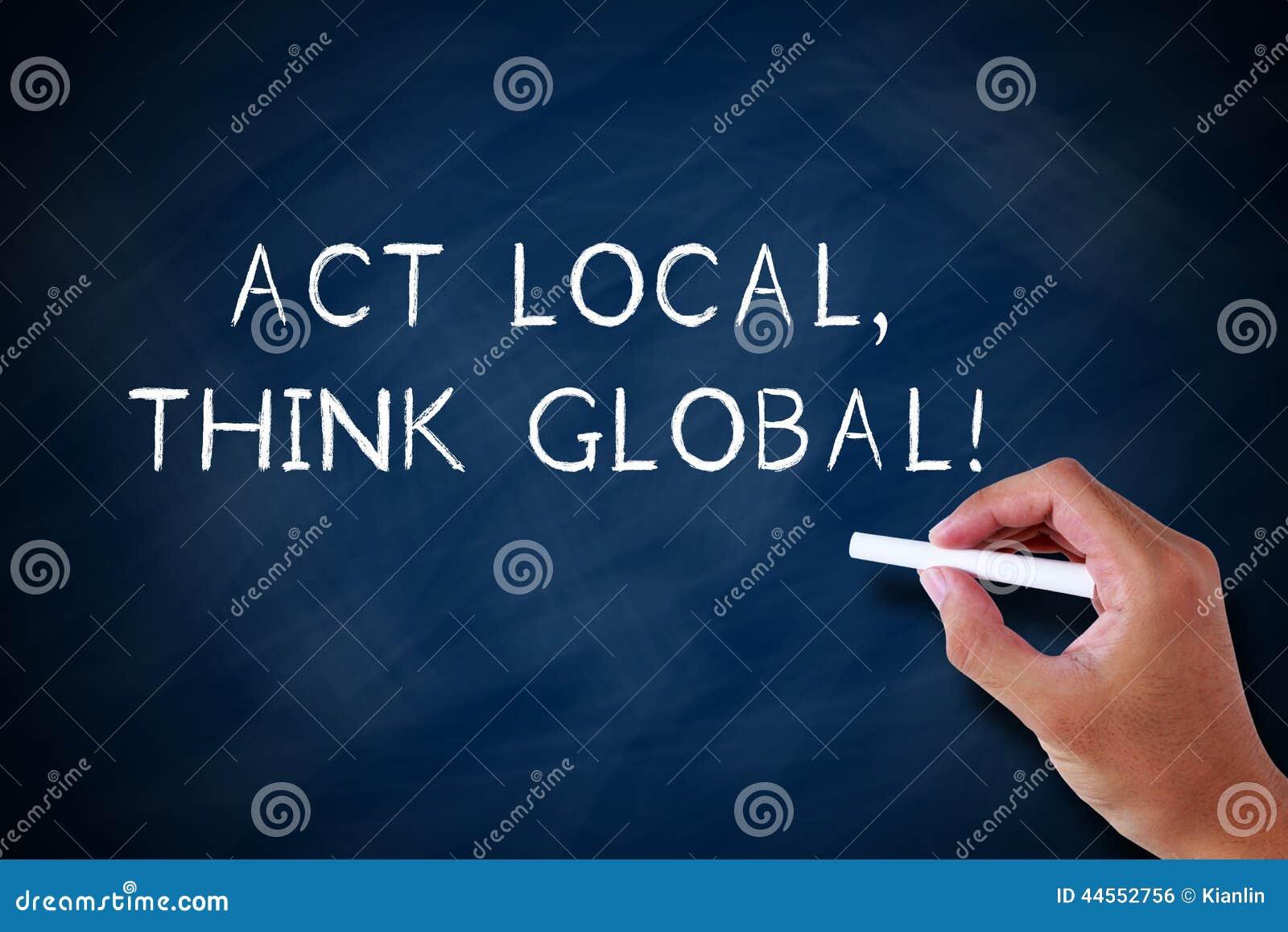 O ato local e pensa global