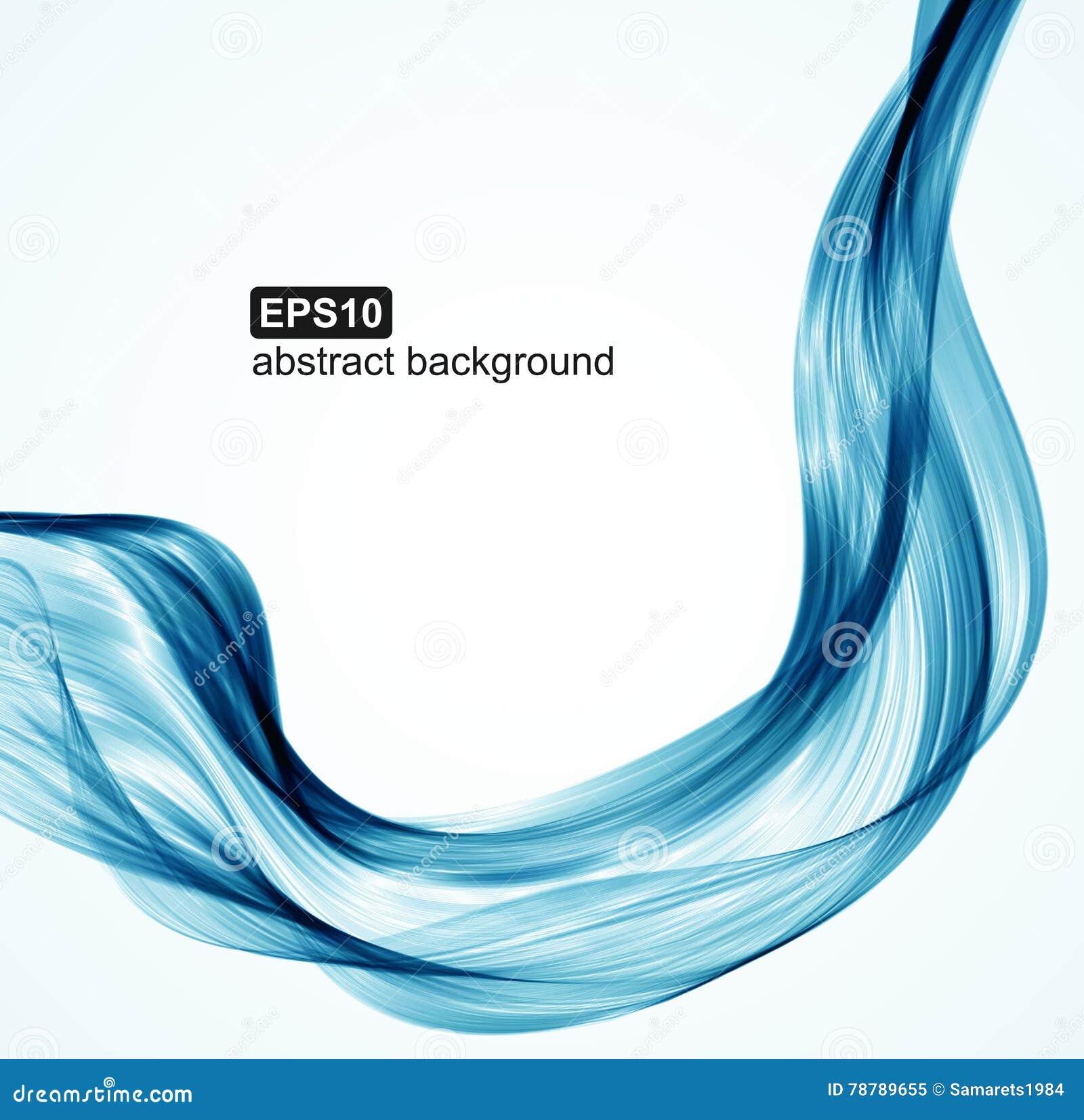 O azul abstrato do vetor acena o fundo