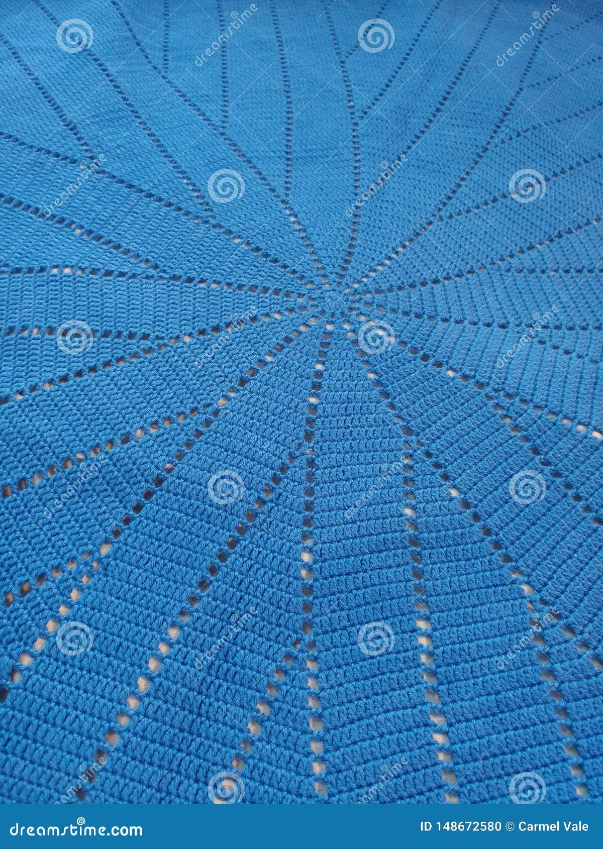 O azul faz croch? a espiral