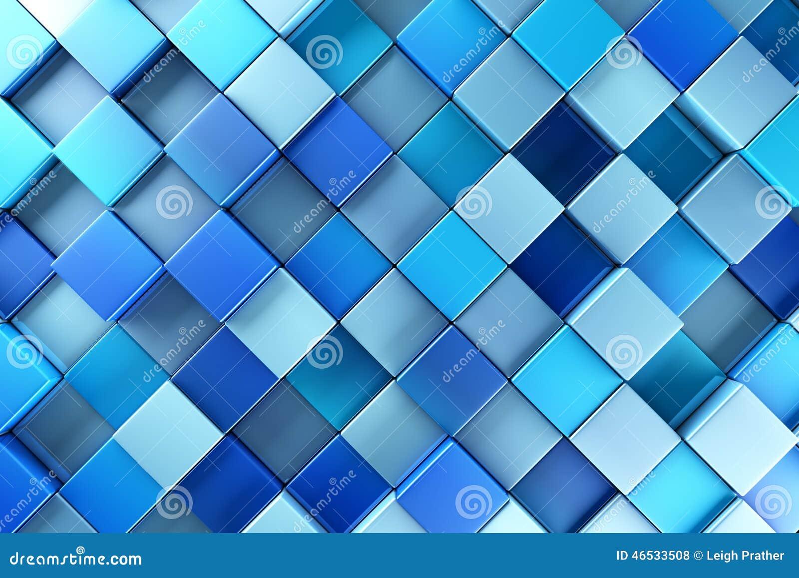 O azul obstrui o fundo abstrato