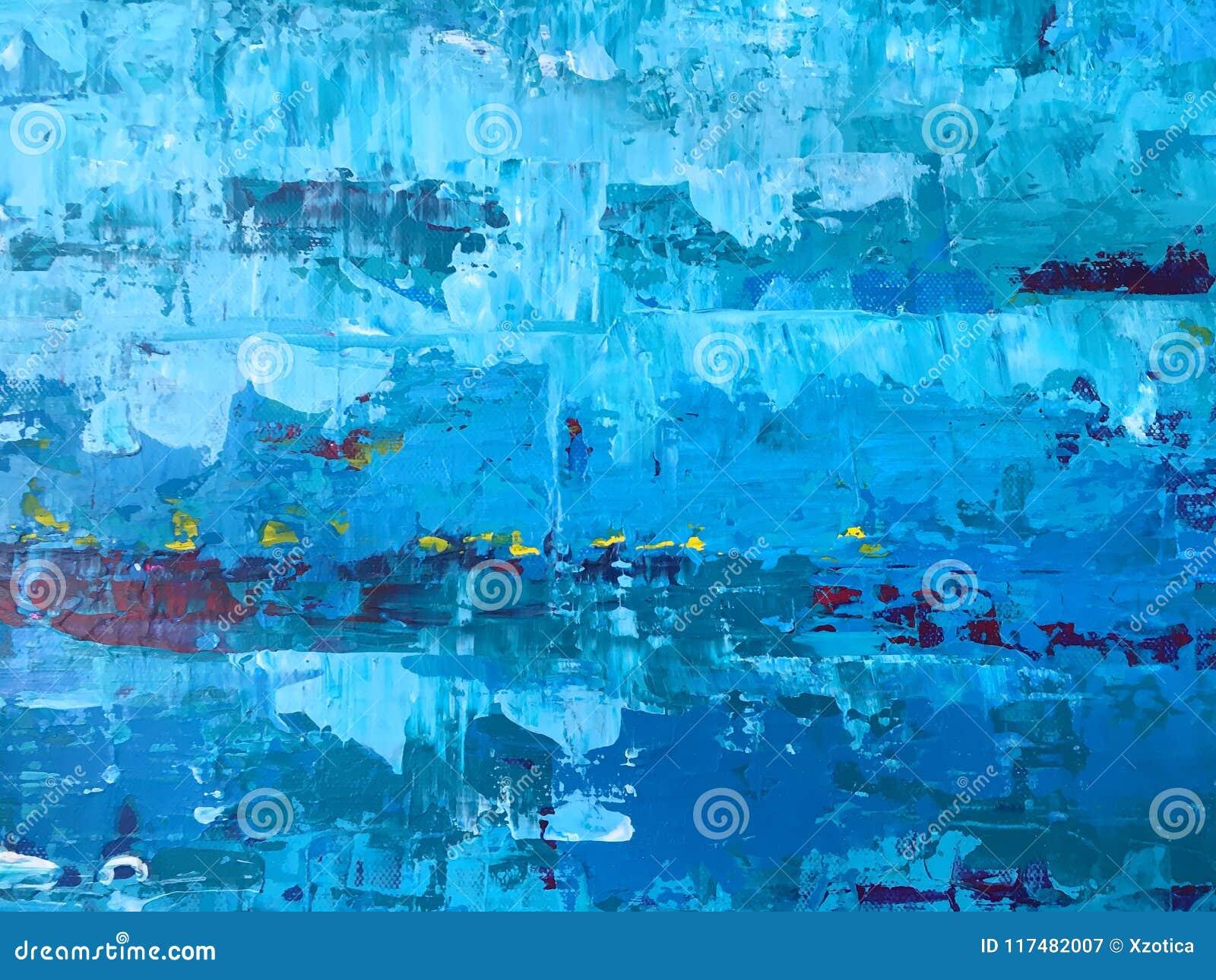 O backgroun abstrato azul e branco áspero e do grunge do papel de parede