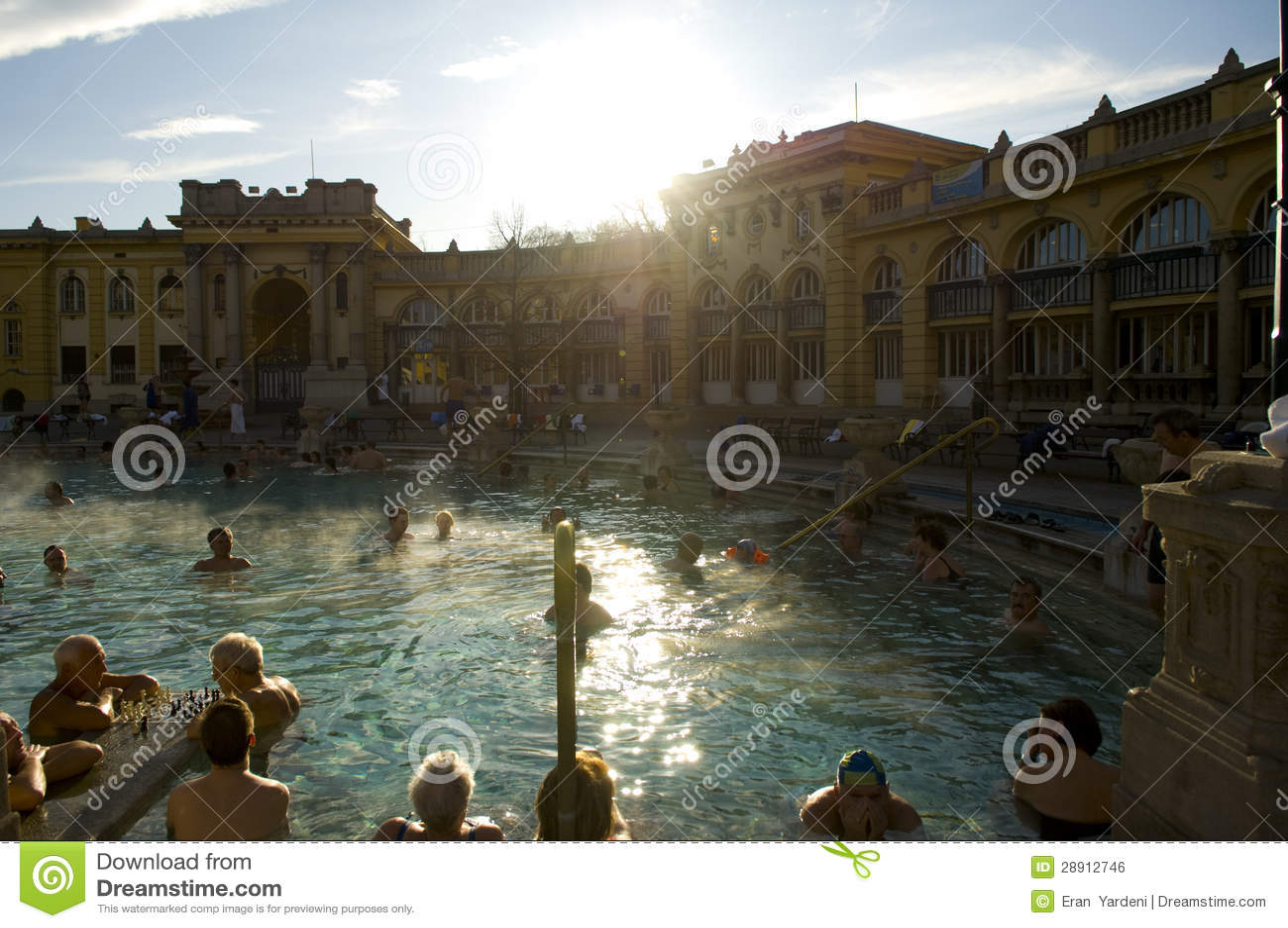 O banho térmico de Szechenyi, budapest