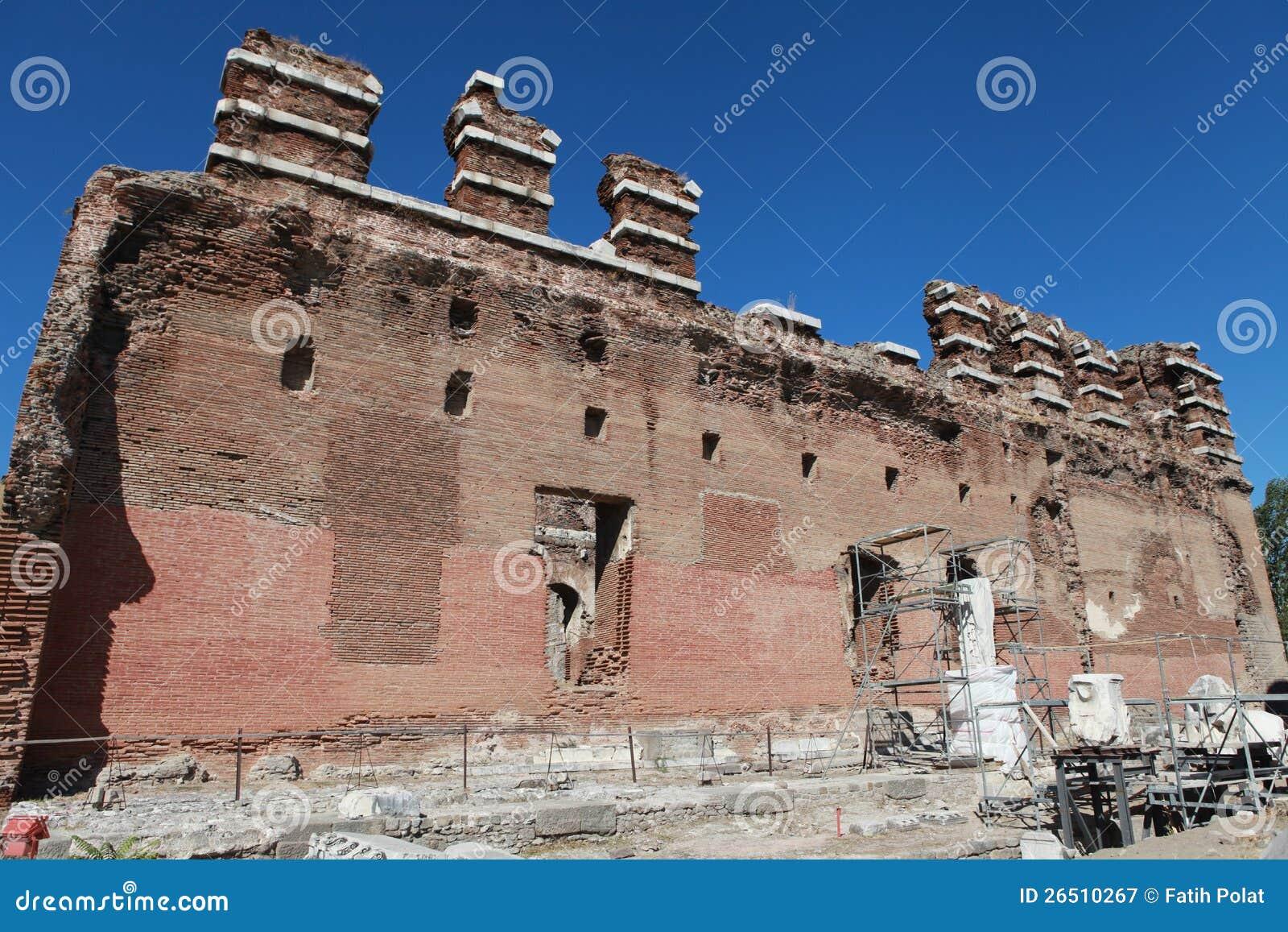 O Bazilika, Redhall, em Pergamon, Smyrna.