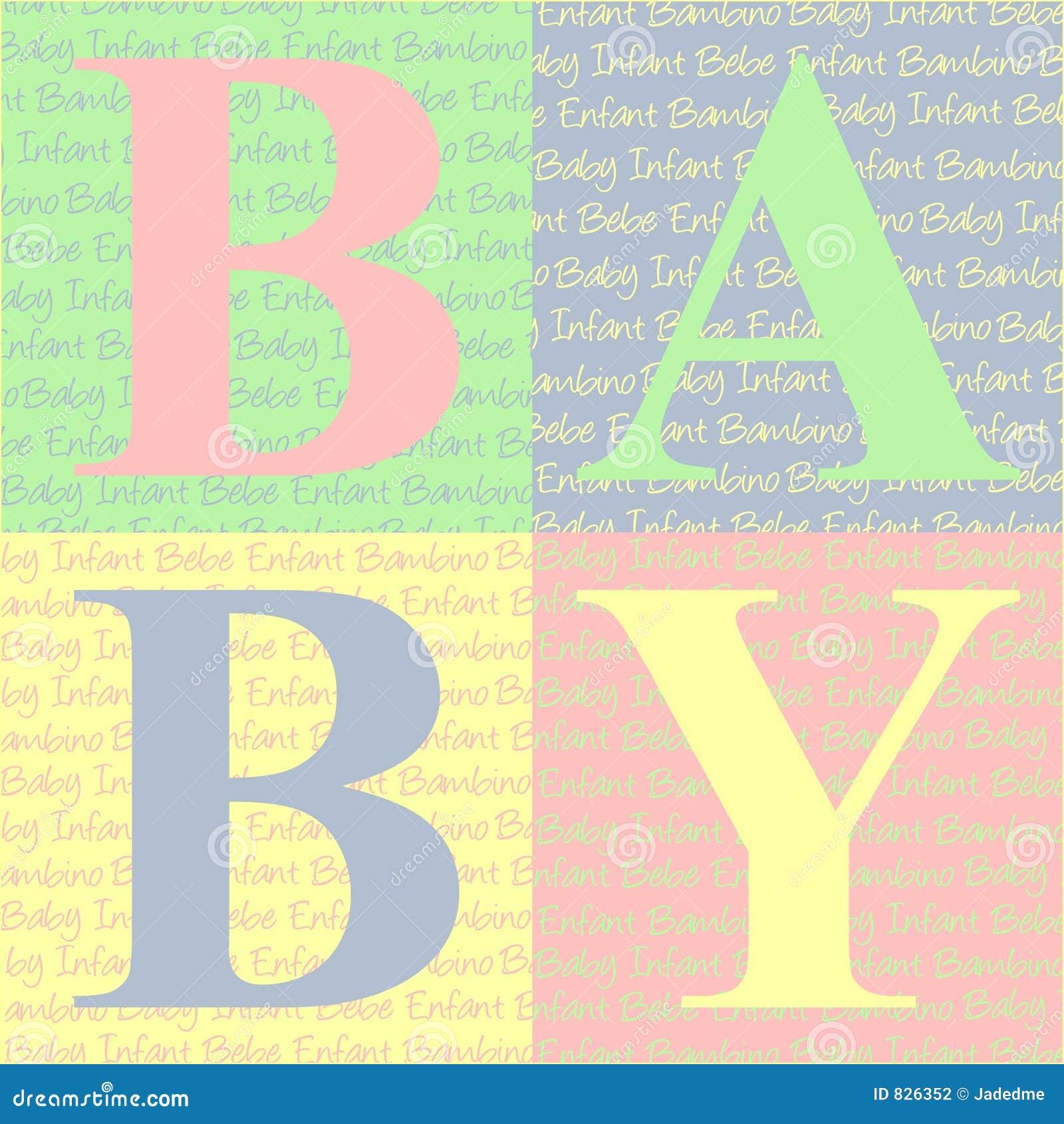 O bebê obstrui o cartão