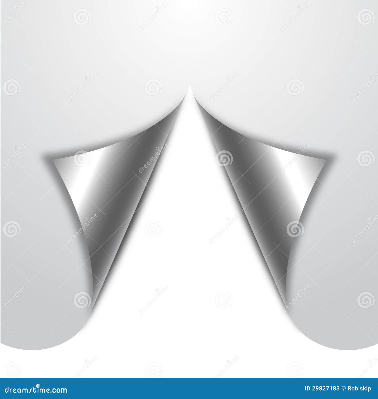 Papel ondulado branco