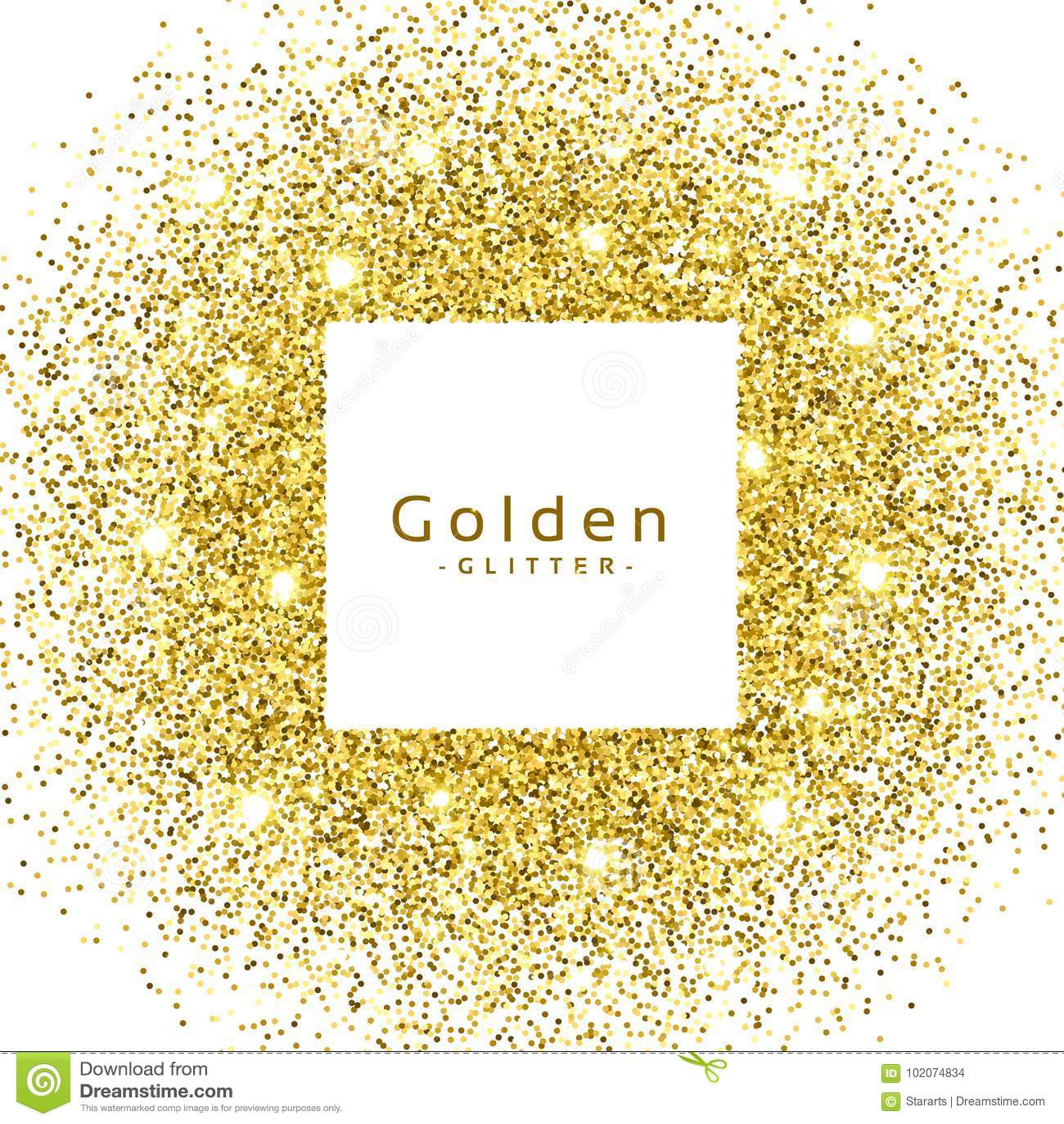 O brilho dourado abstrato sparkles quadro