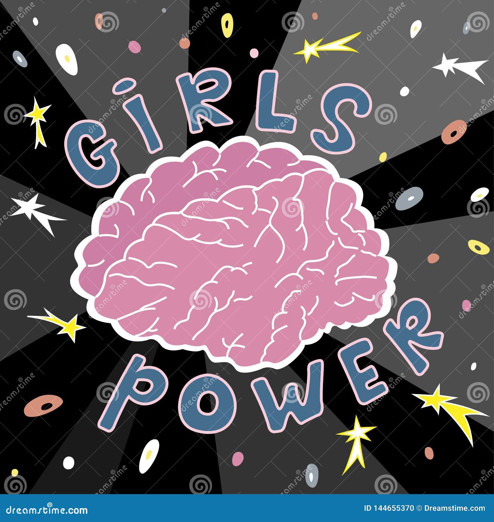O cérebro é o poder principal das meninas