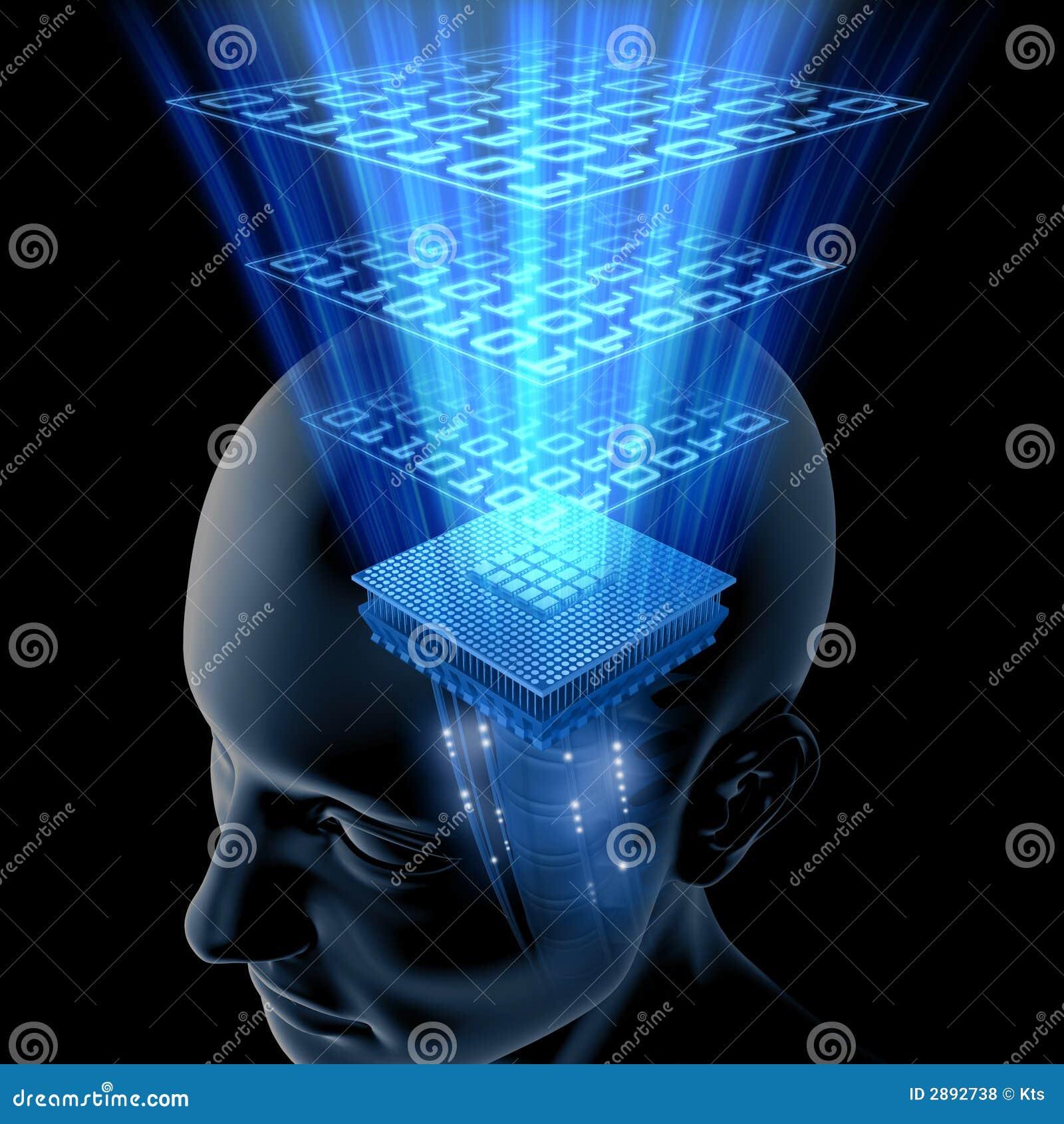 O cérebro está pensando (o processador central)