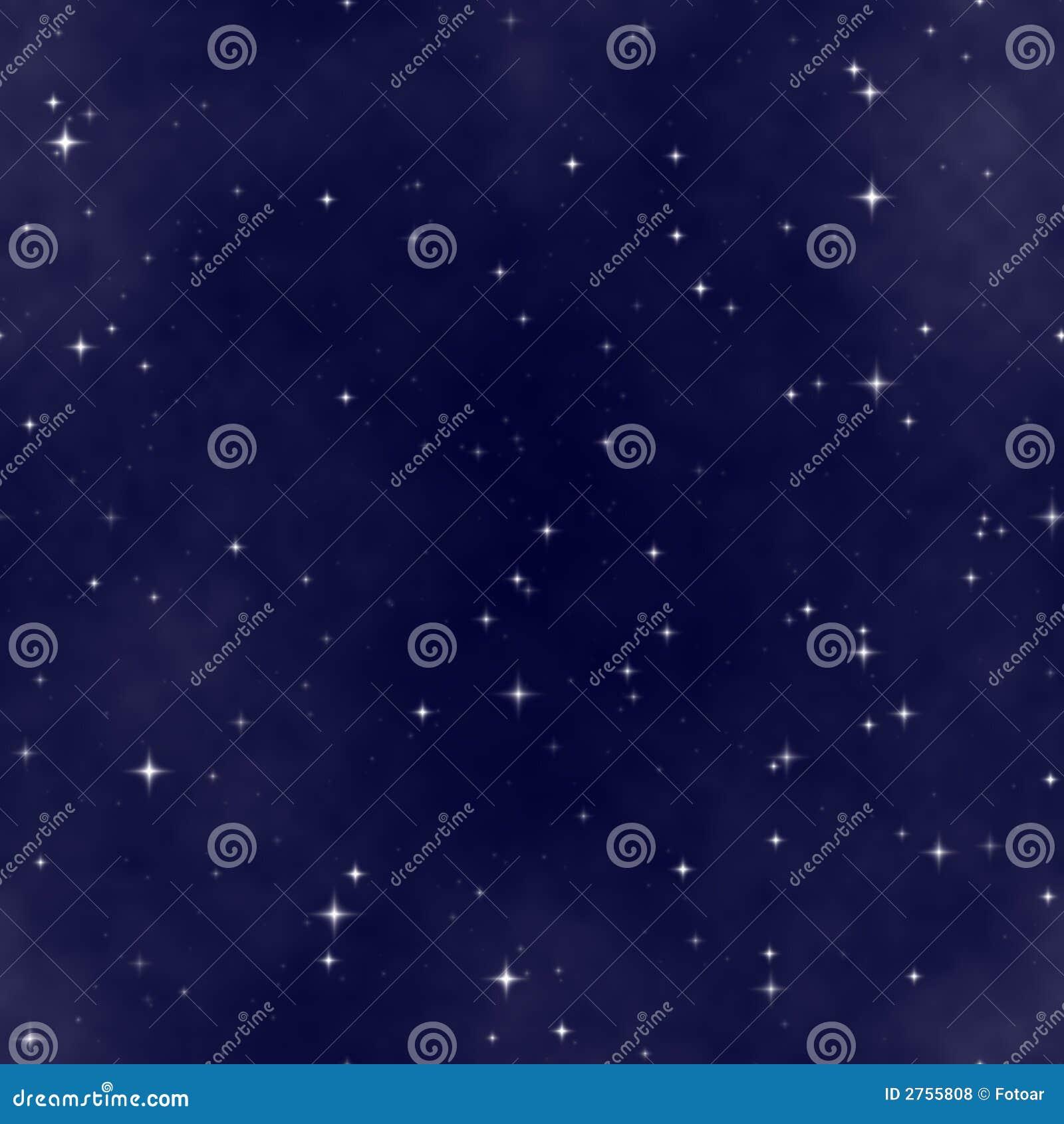 O céu nocturno da estrela