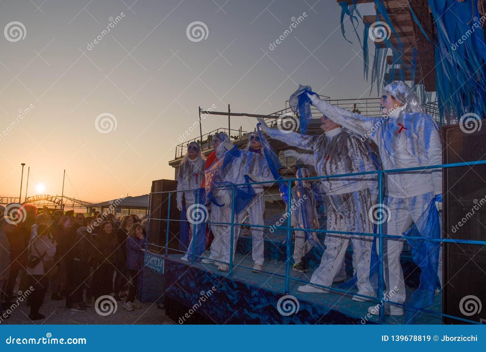 O carnaval de Viareggio, edição 2019
