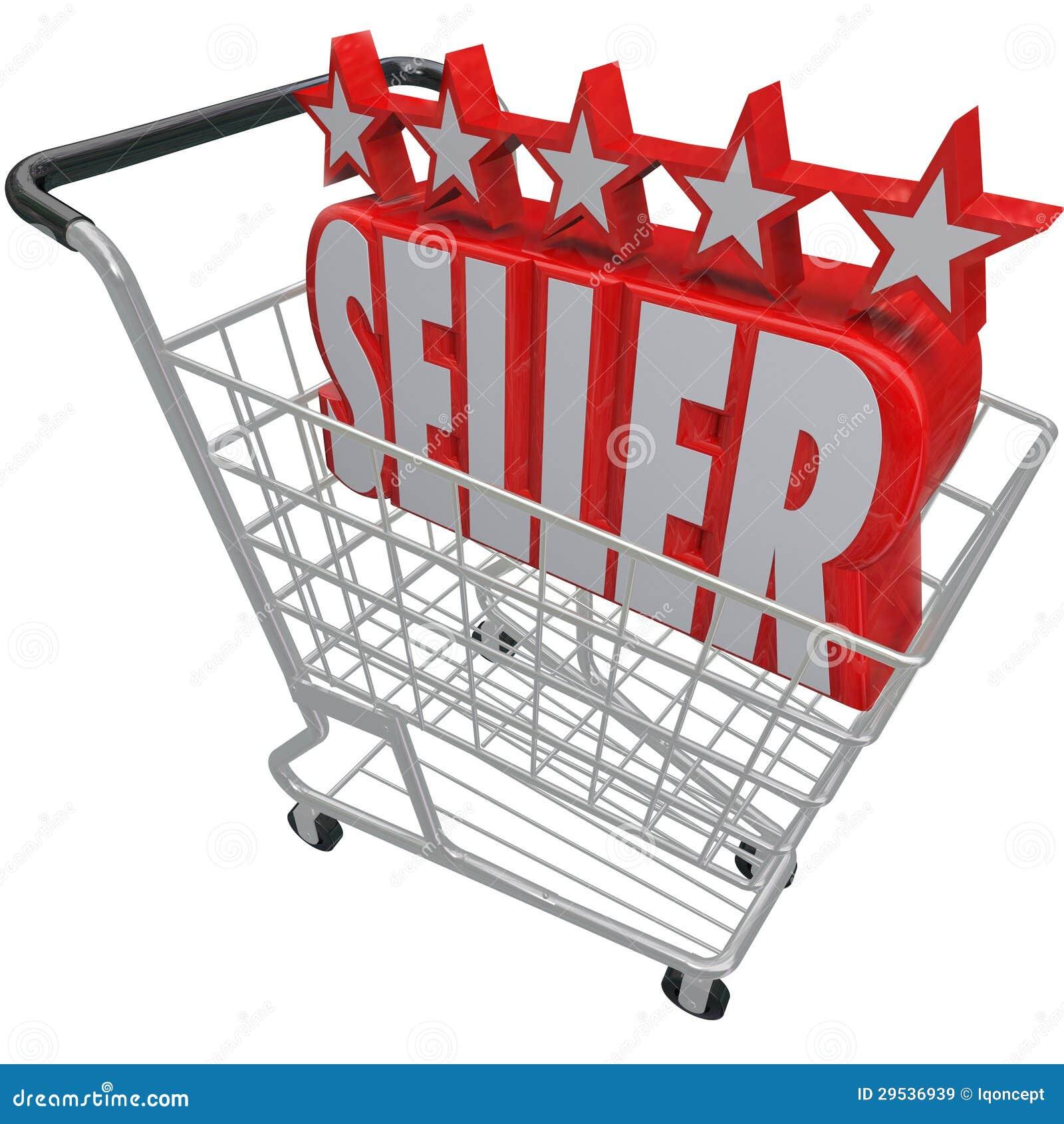 O carrinho de compras do vendedor de cinco estrelas confiou o melhor varejista em linha