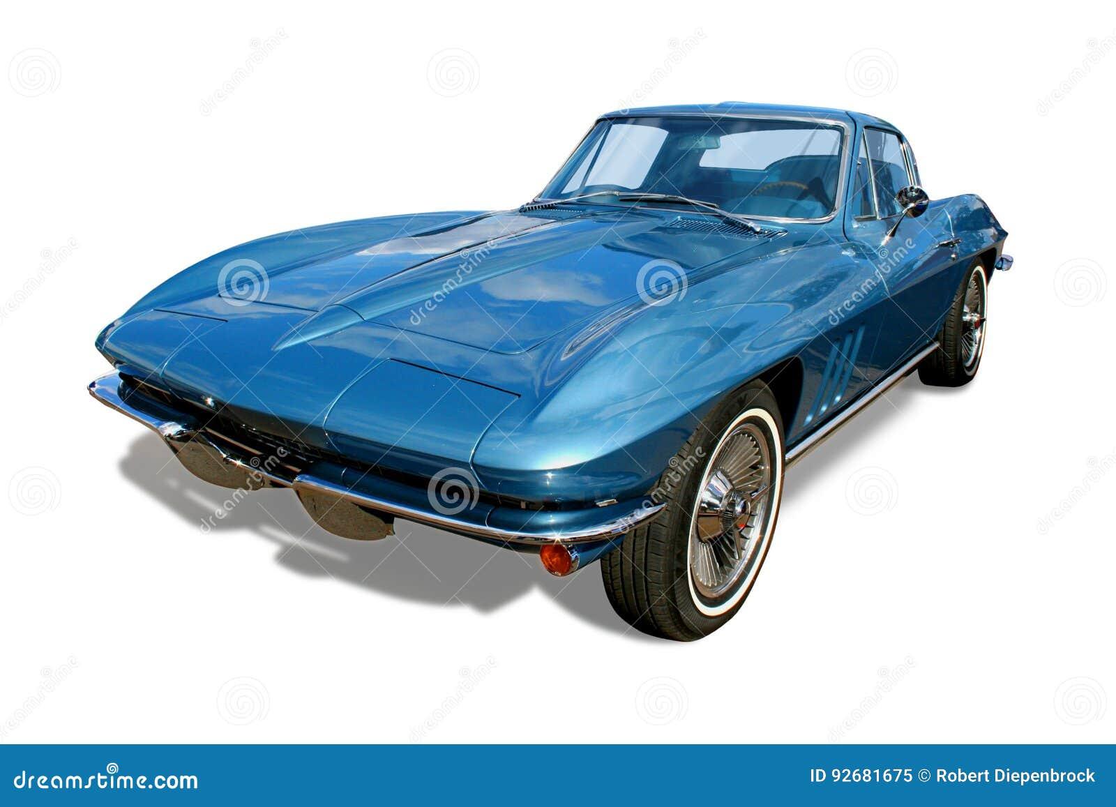 O carro de esportes clássico Corveta isolou-se