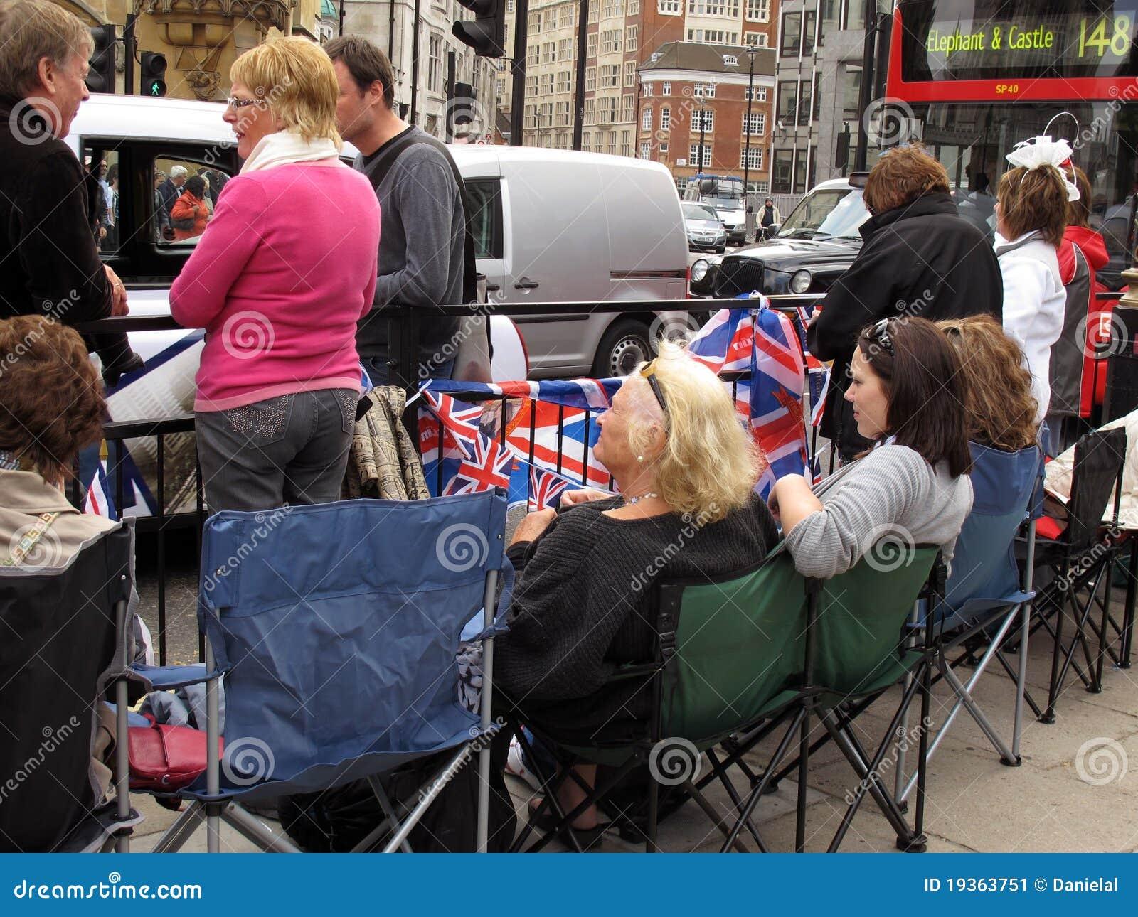 O casamento real ventila Londres