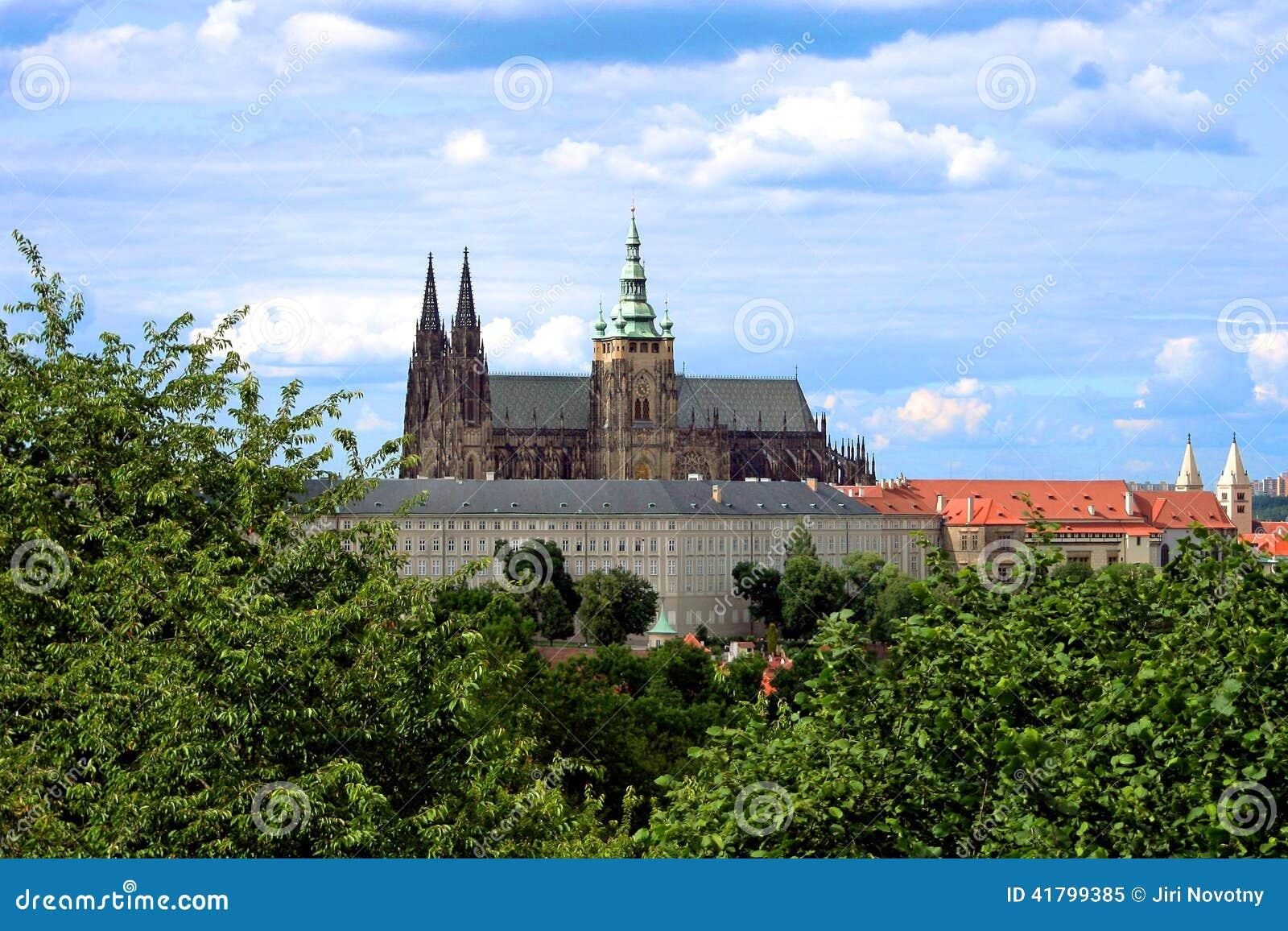 O castelo de Praga na república checa