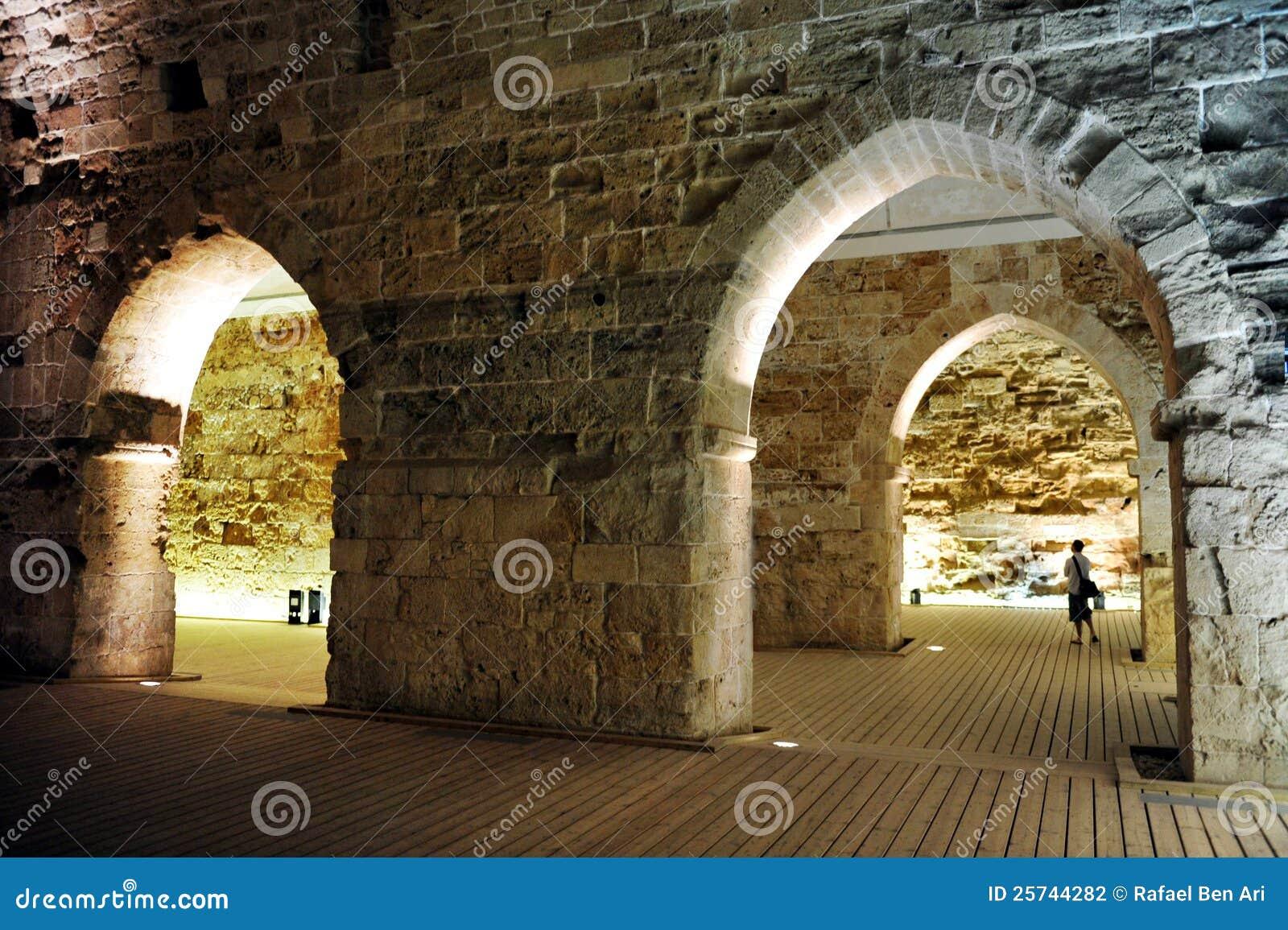 O castelo templar do cavaleiro em Akko