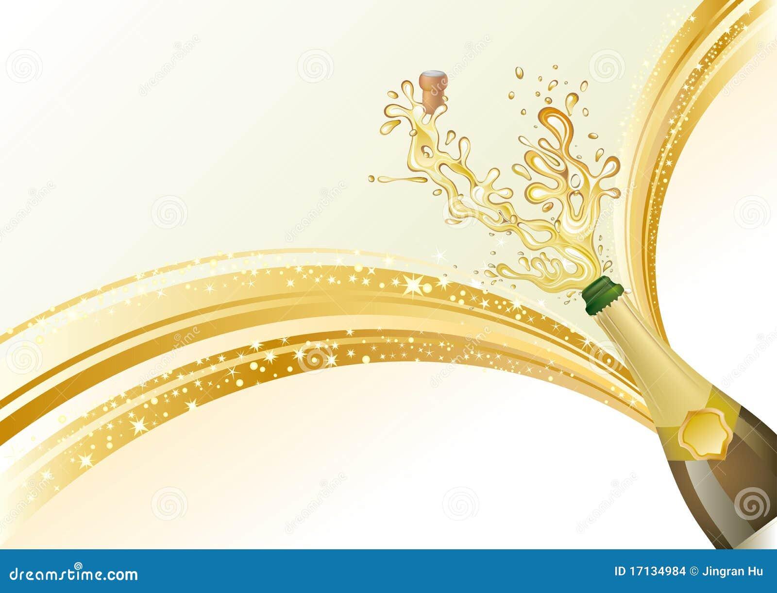 O champanhe comemora o fundo