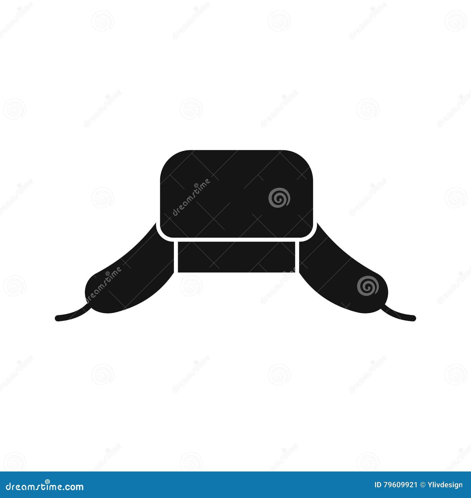 O chapéu com orelha bate o ícone, estilo simples