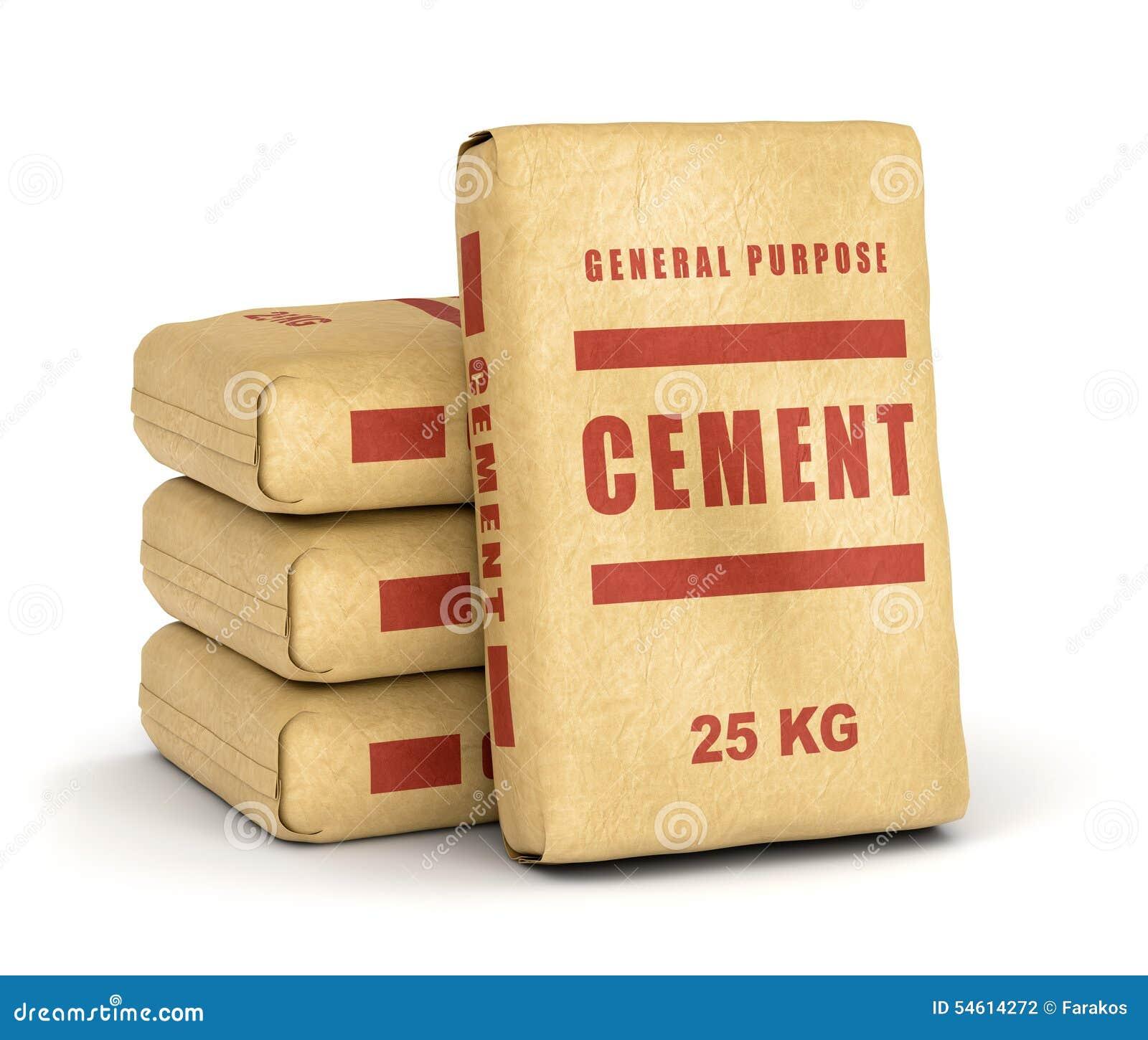 O cimento ensaca a pilha