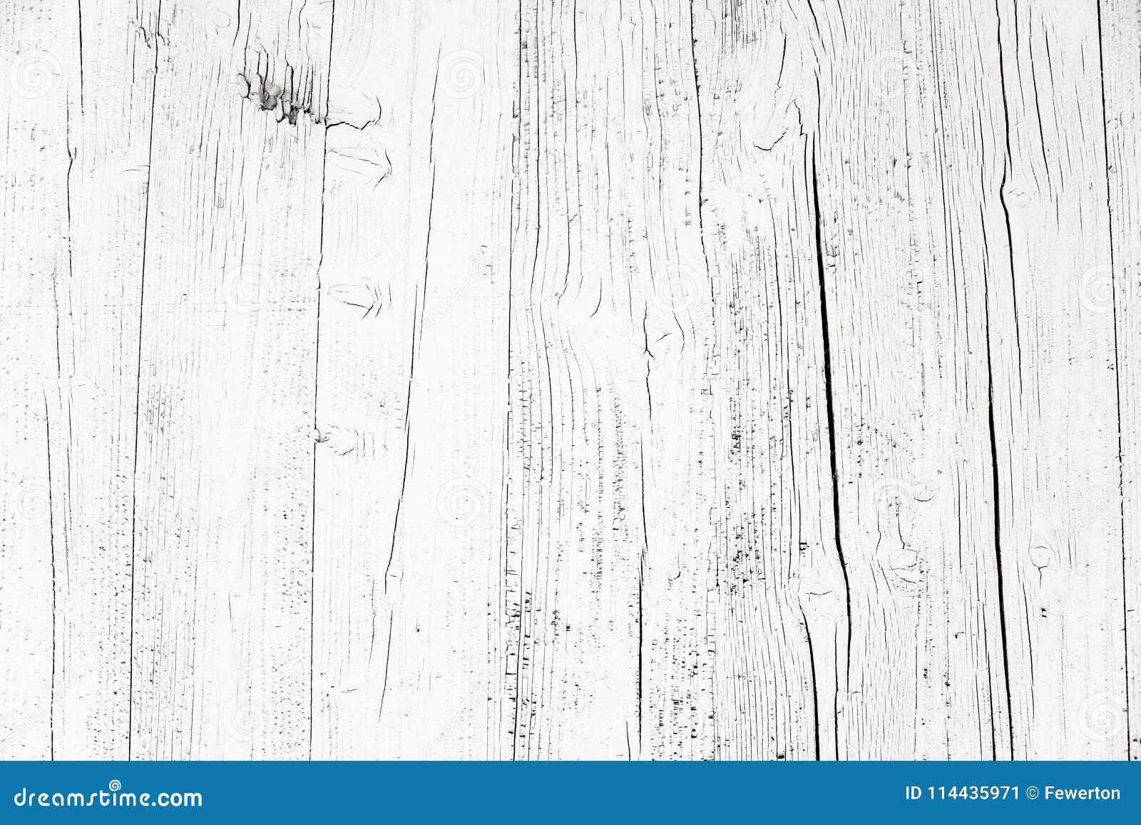 O cinza branco sujo e resistido velho pintou o fundo de madeira da textura da prancha da parede marcado pela exposição longa aos