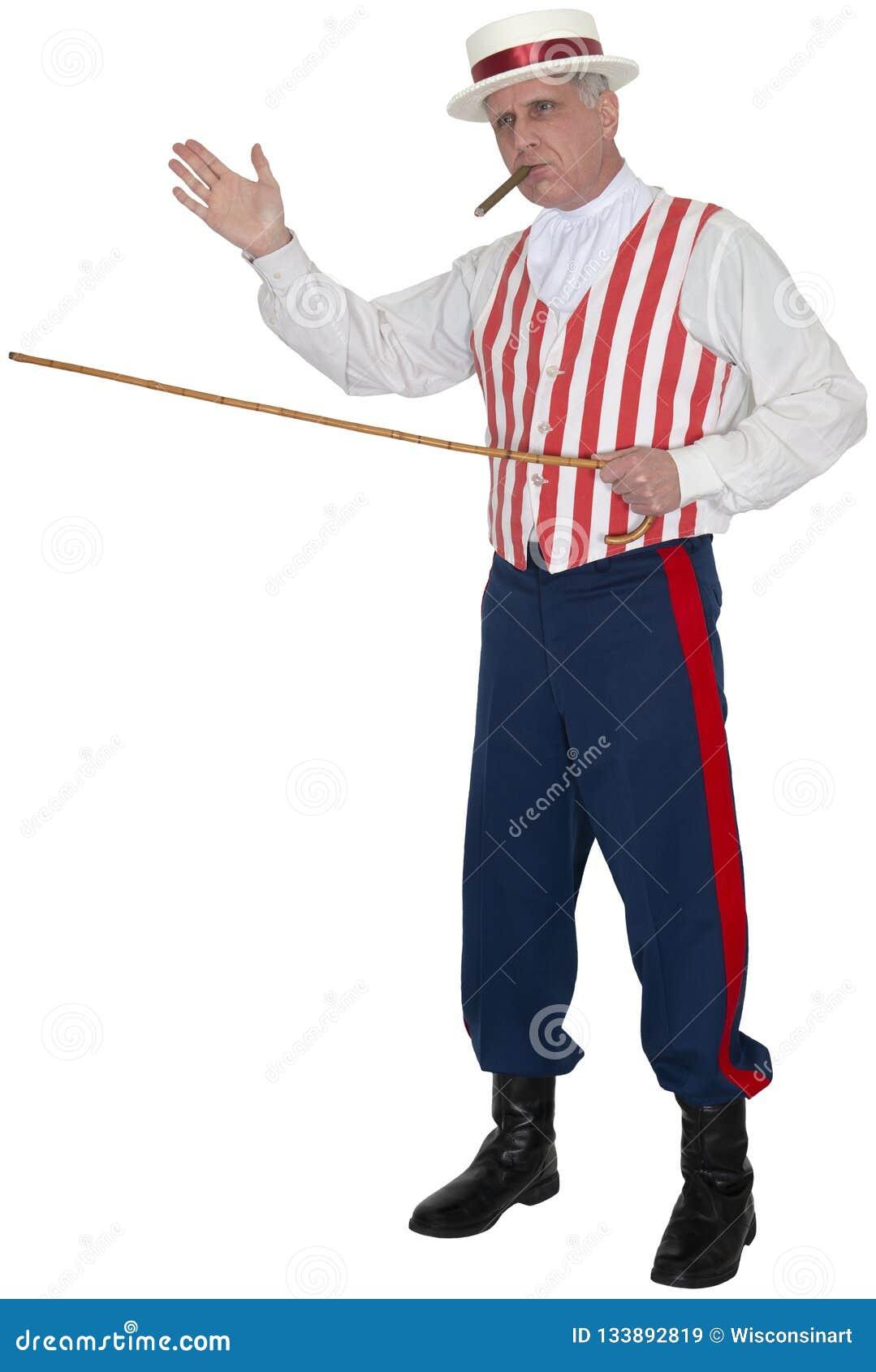 O circo, vendedor ambulante do carnaval, candonga, isolou-se