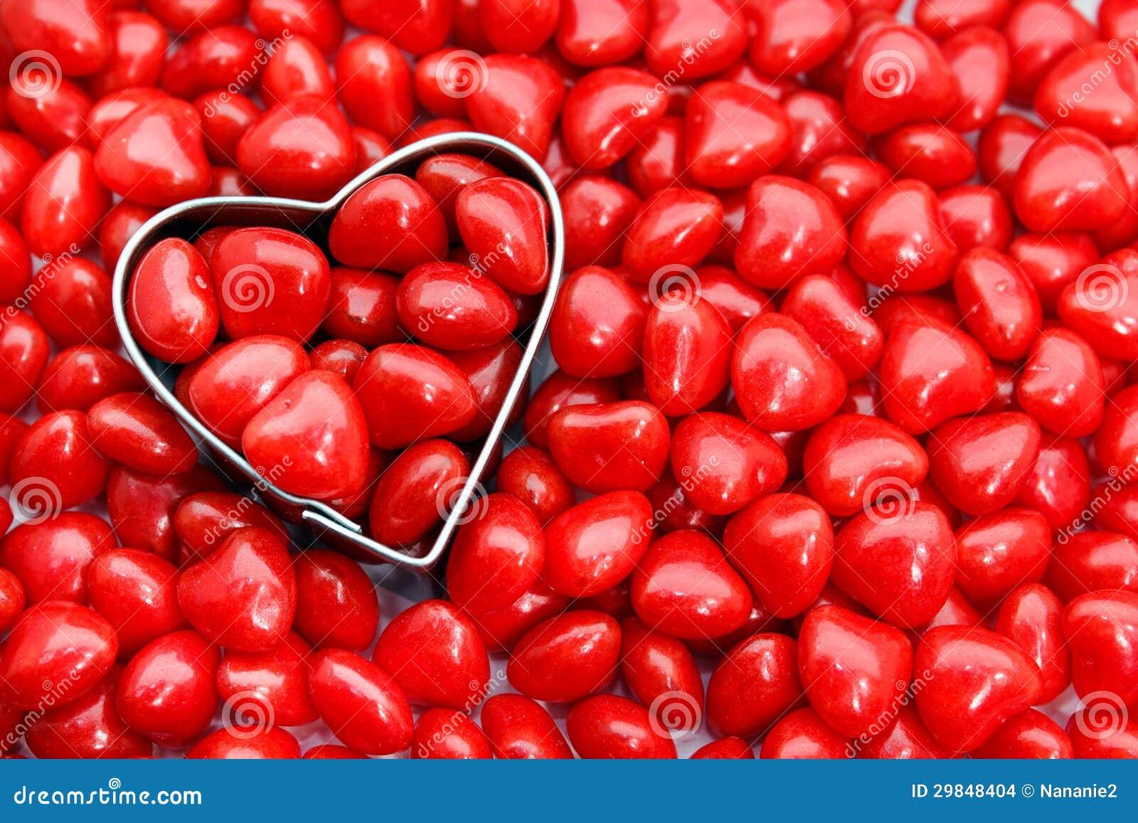 Doces encarnados do coração