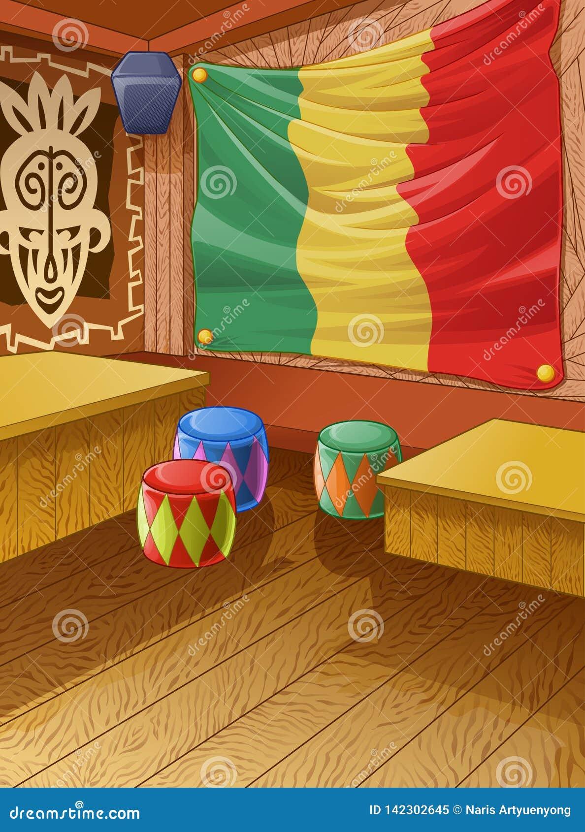 O clube de madeira de Jamaica do vetor é colorido
