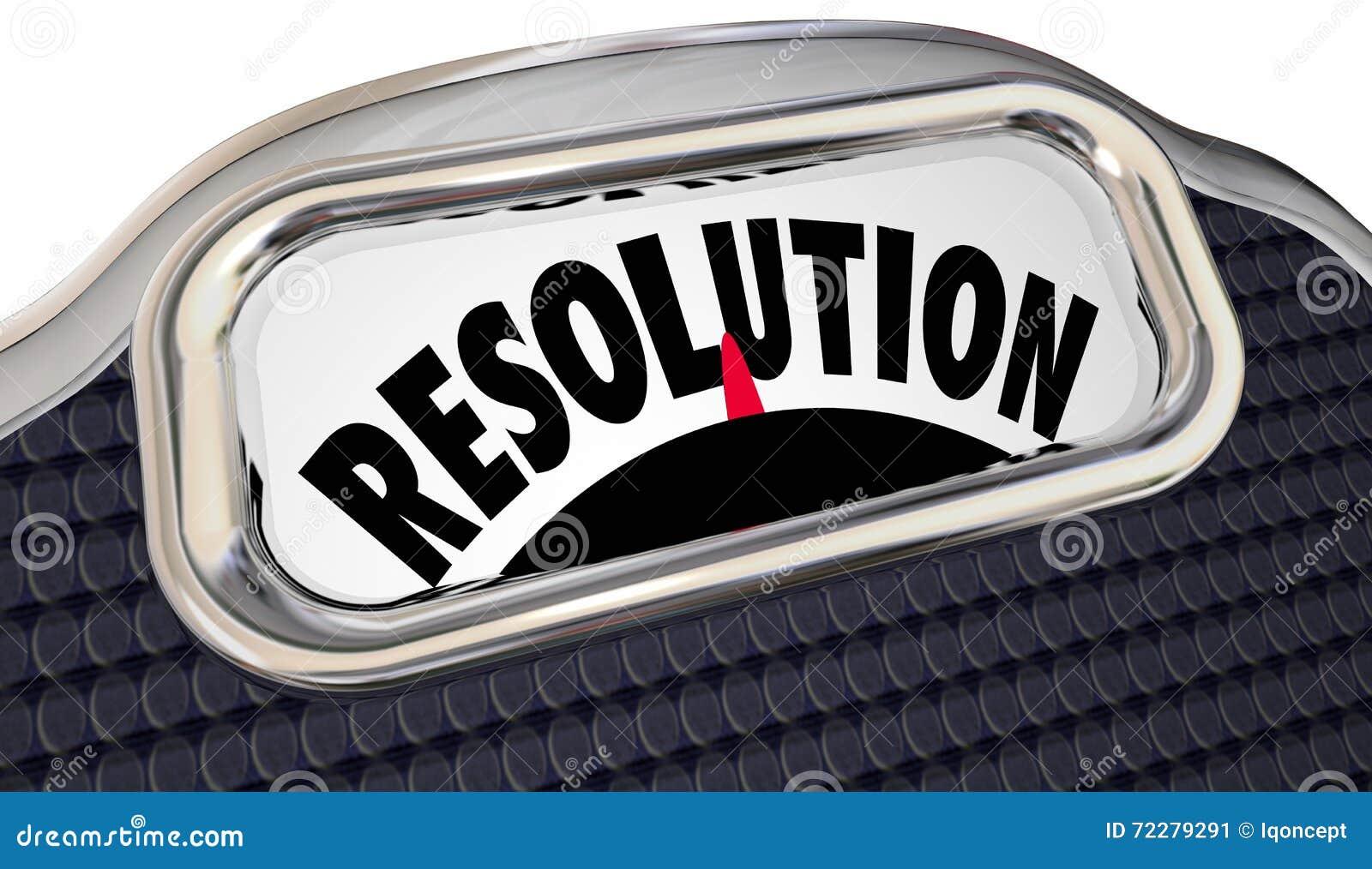 O compromisso do ano novo da escala da palavra da definição perde o peso