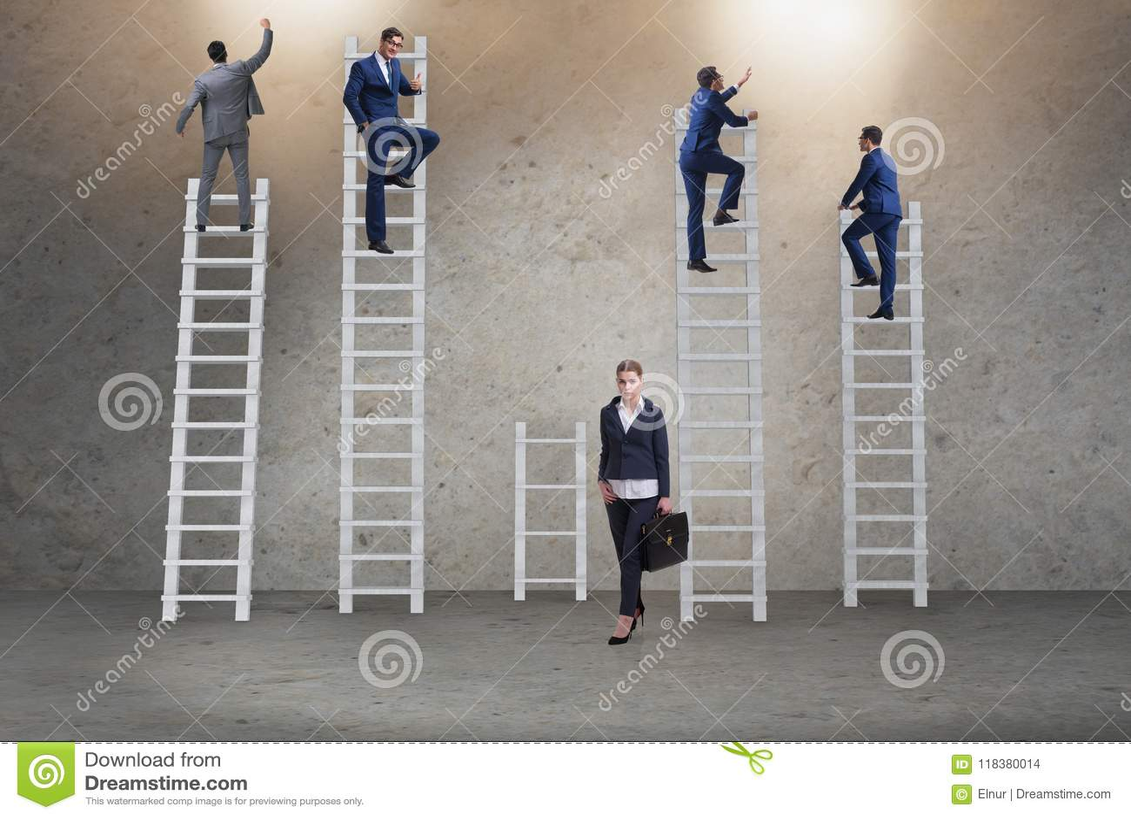 O conceito de oportunidades desiguais da carreira entre a mulher do homem
