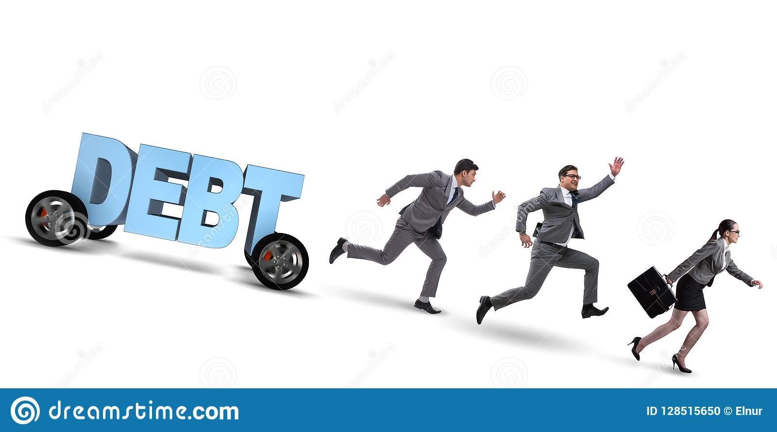 O conceito do negócio do débito e do empréstimo