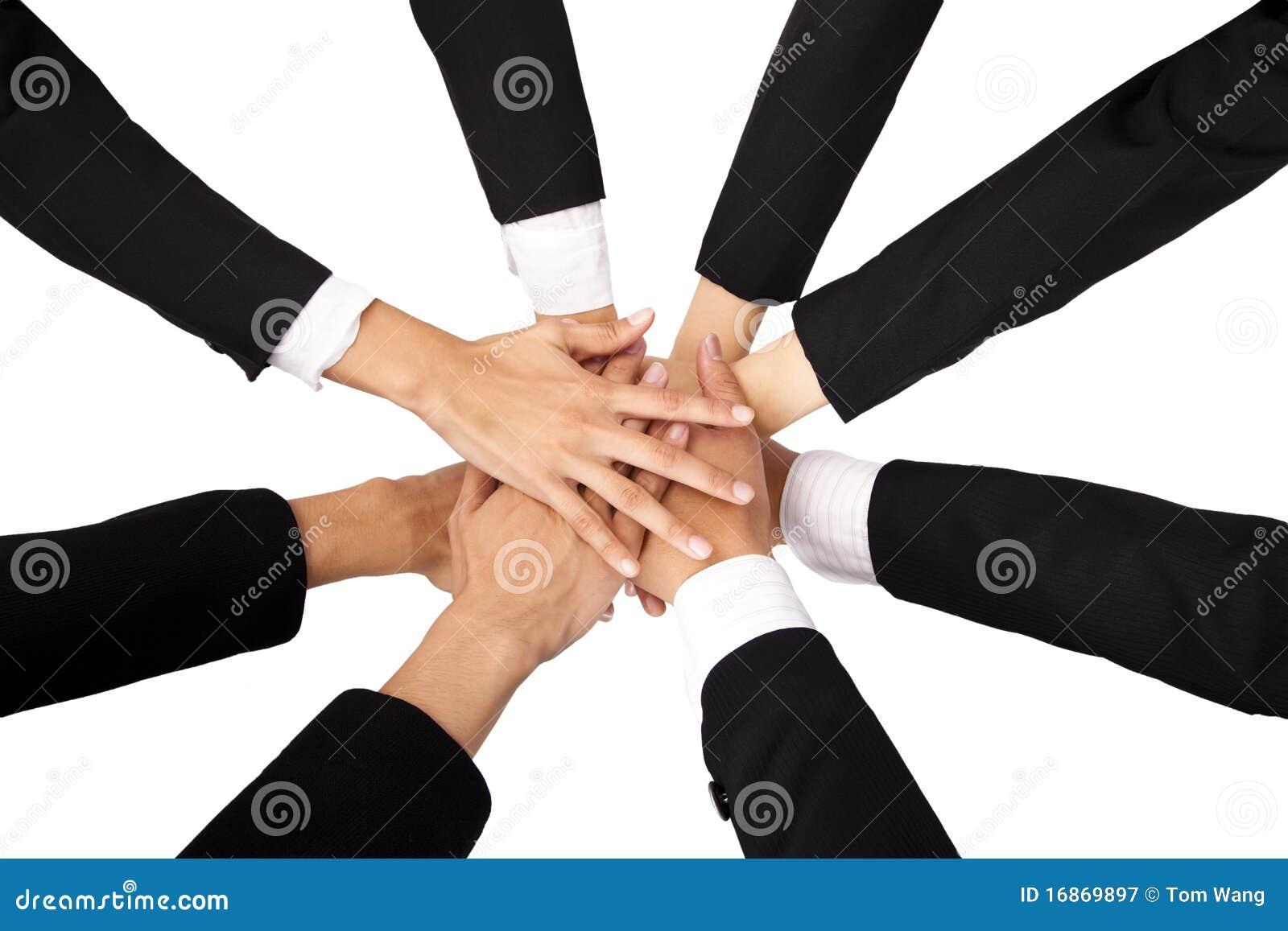 O conceito dos trabalhos de equipa e da cooperação