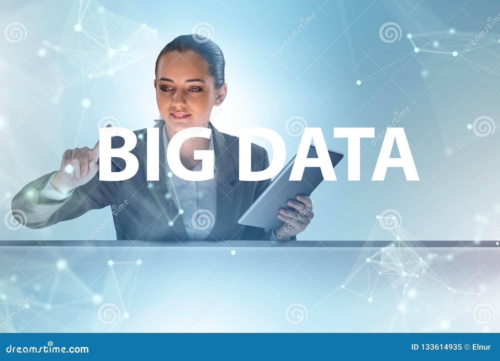 O conceito grande dos dados com o analista da mineração de dados