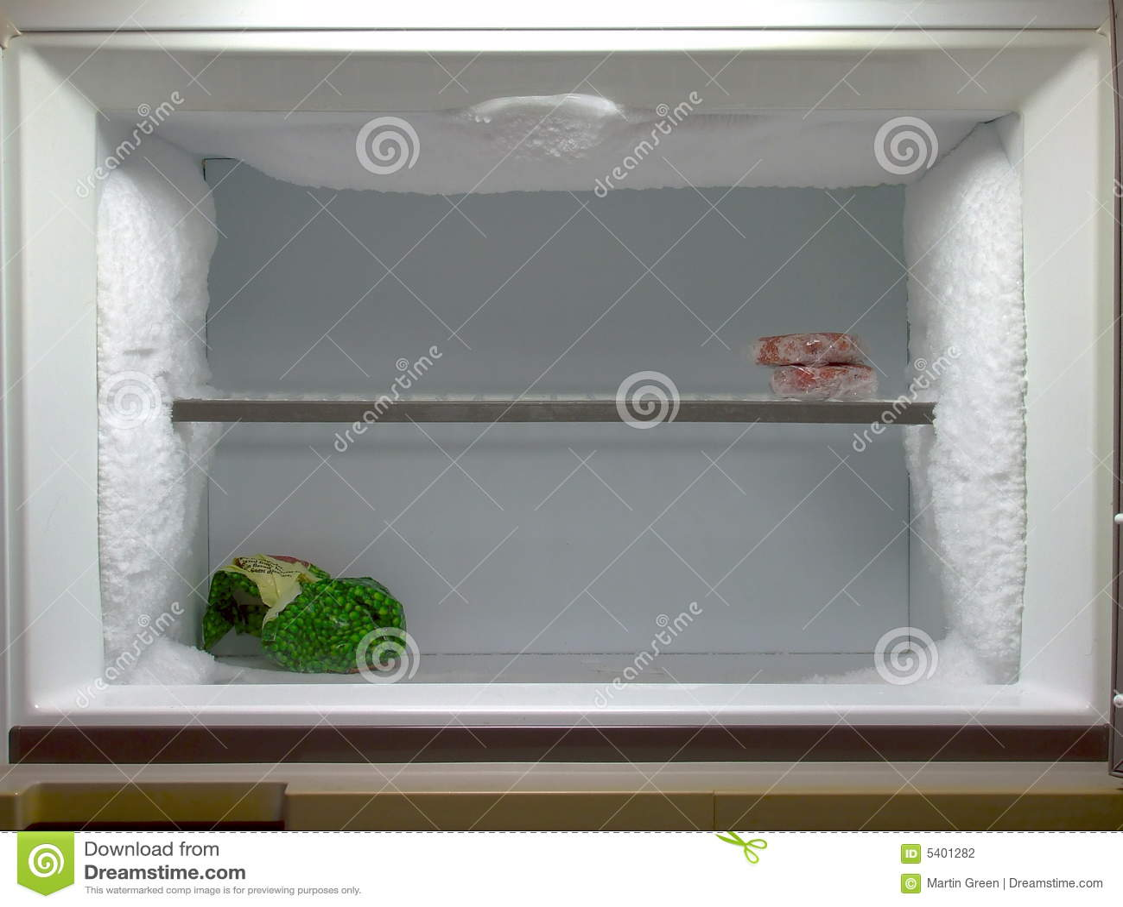 O congelador precisa de degelar