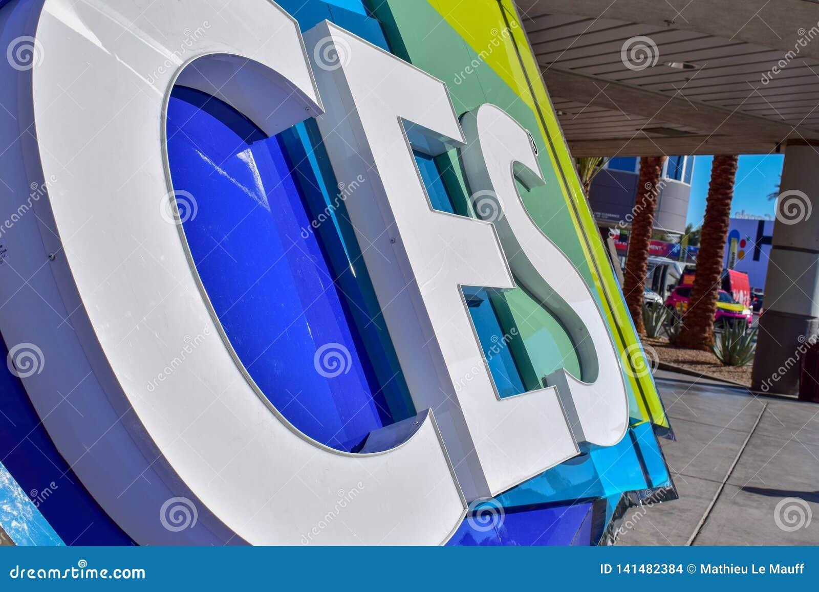 O Consumer Electronics Show CES assina dentro Las Vegas