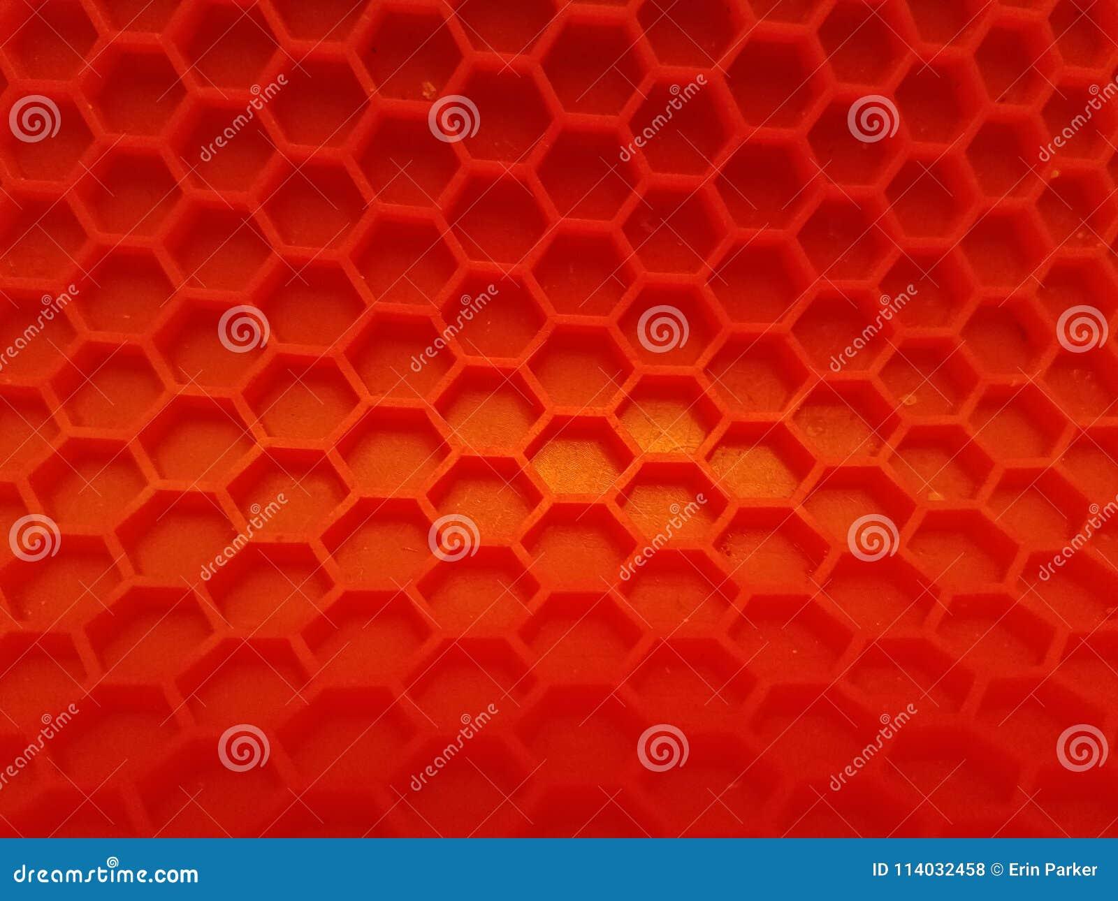 O contexto vermelho do hexágono com desvanece-se