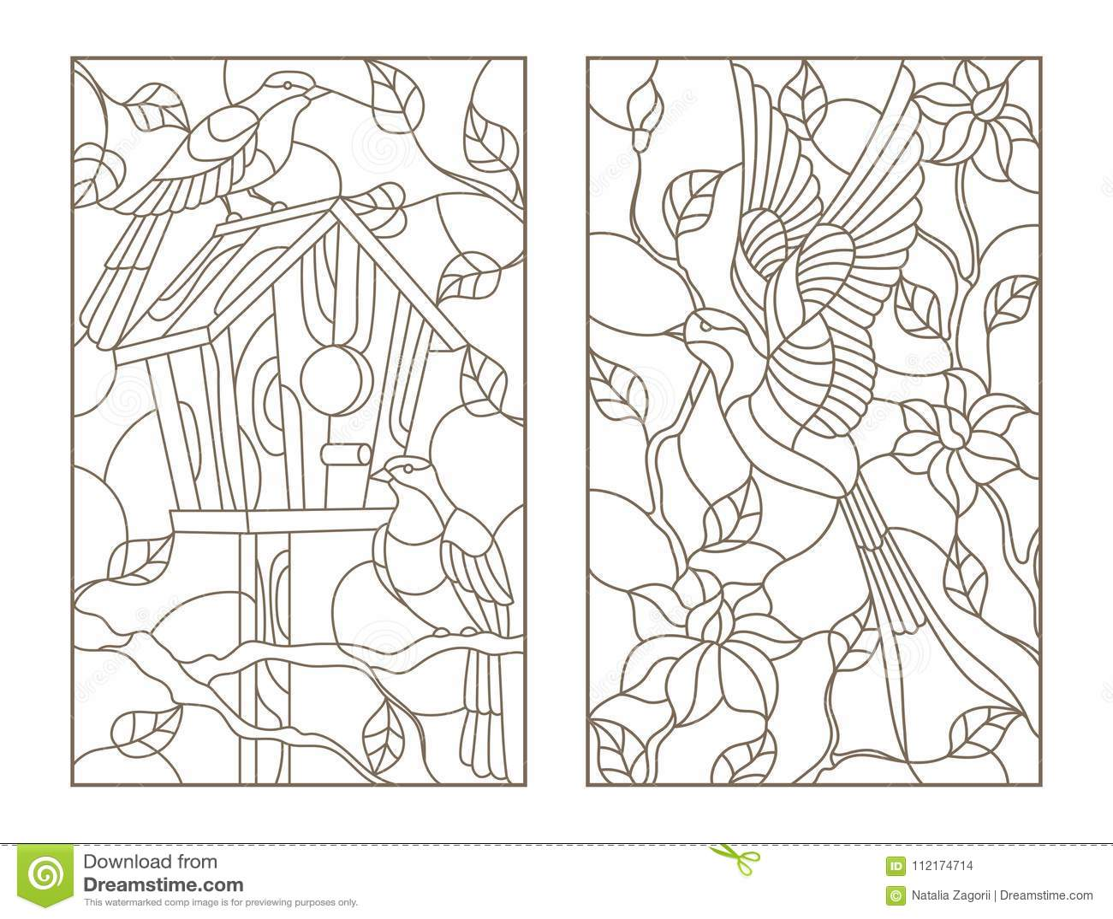 o contorno ajustou se com vitral windows das ilustrações com