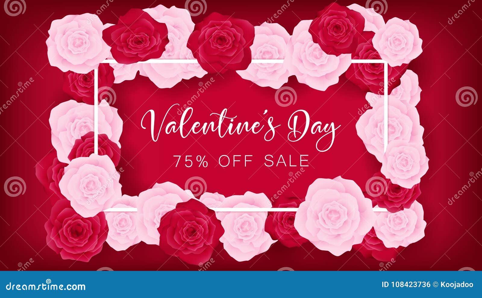 O convite do dia do ` s do Valentim da vista superior decora no fundo vermelho