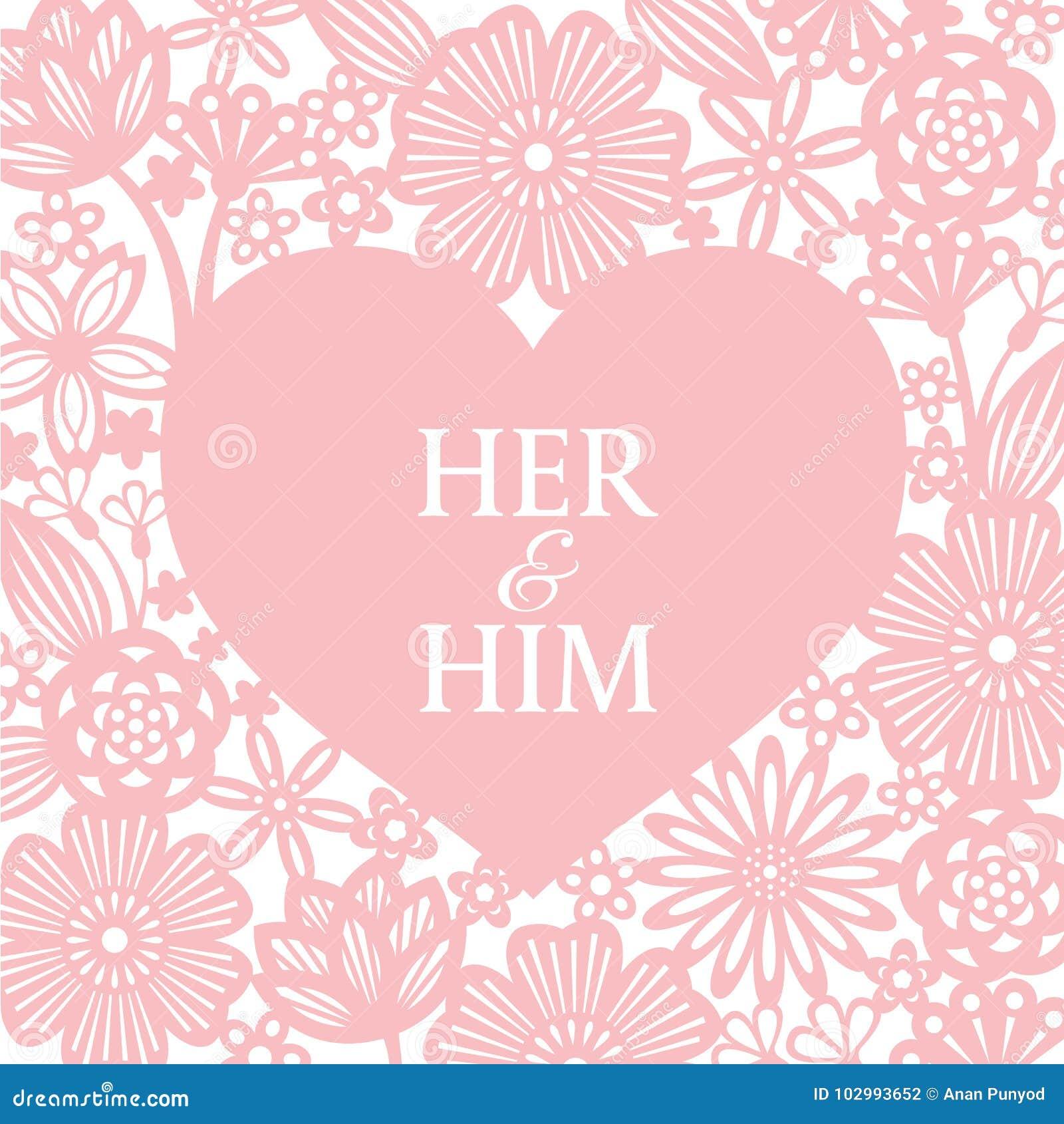 O coração cor-de-rosa e a arte abstrata do vetor do fundo do corte do papel da flor projetam para o dia do ` s do cartão ou do Va