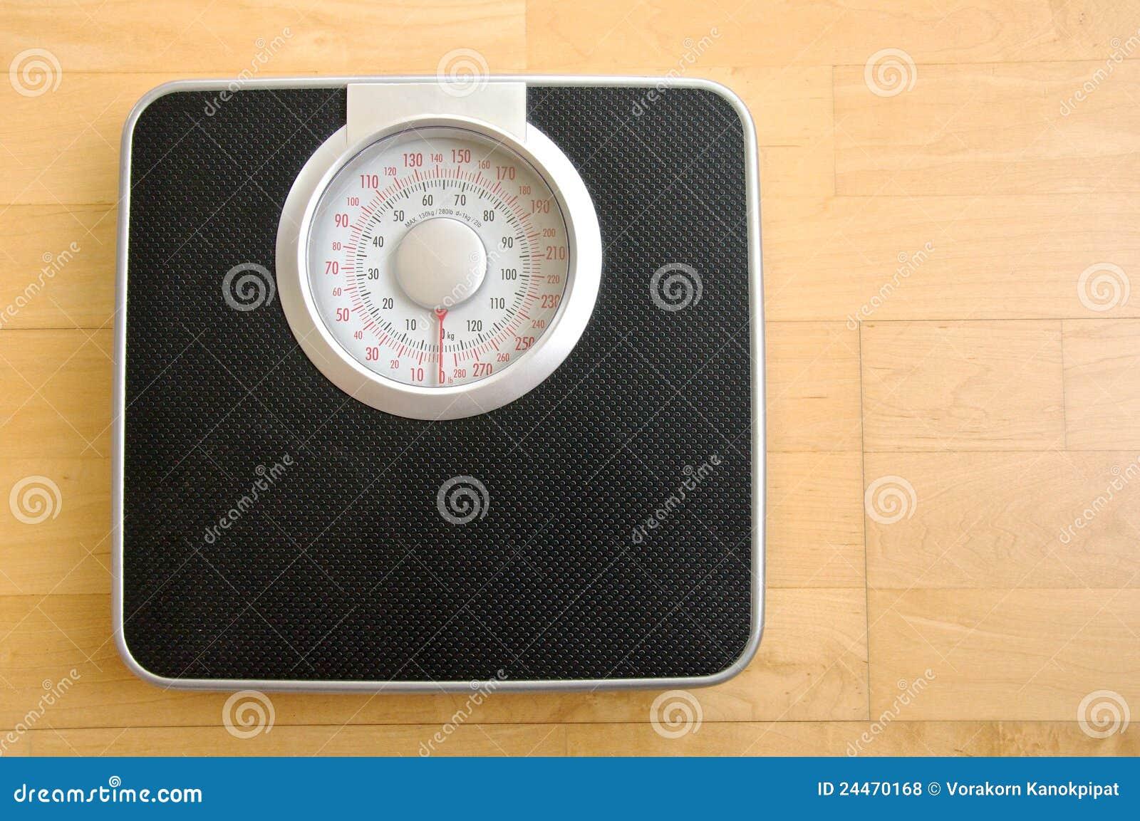 O corpo preto análogo pesa a escala