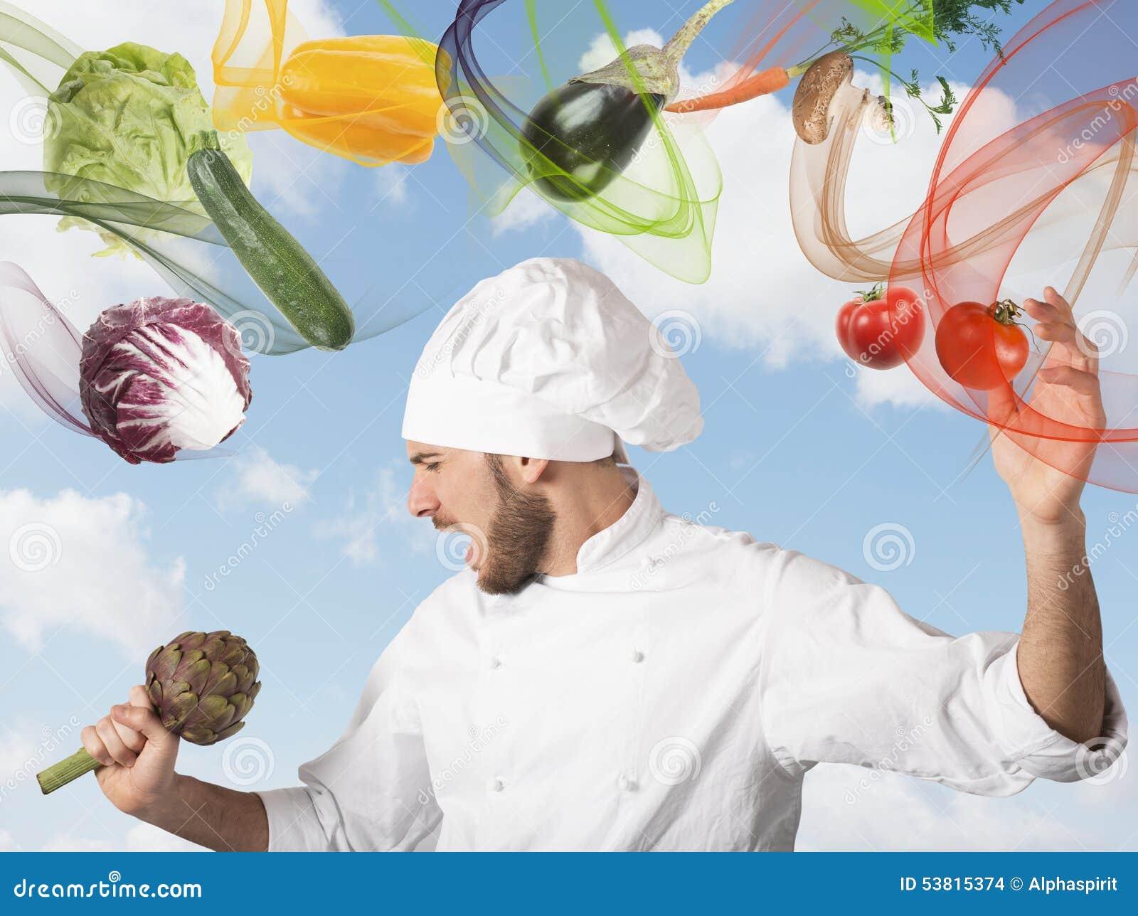 O cozinheiro chefe canta