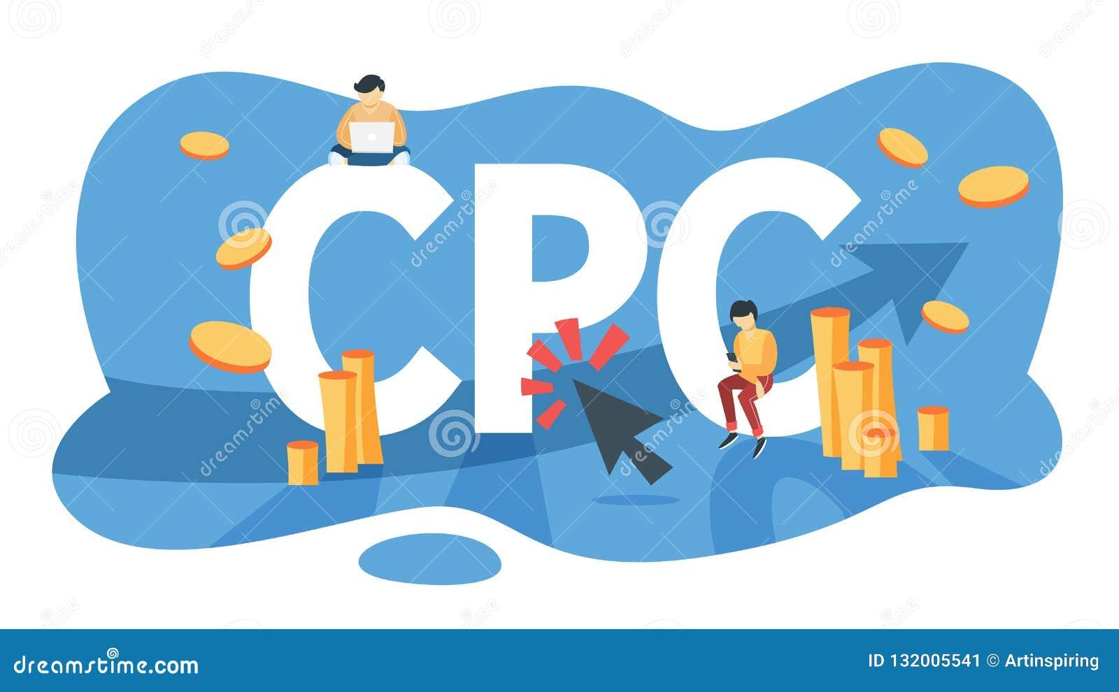 O CPC custou pela propaganda do clique no Internet